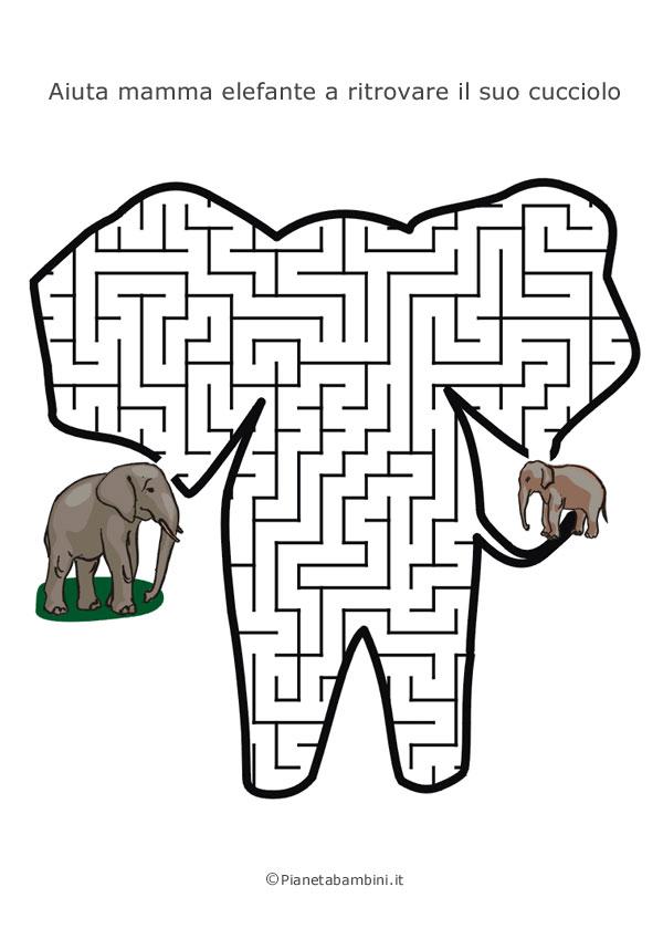 Labirinto a forma di elefante