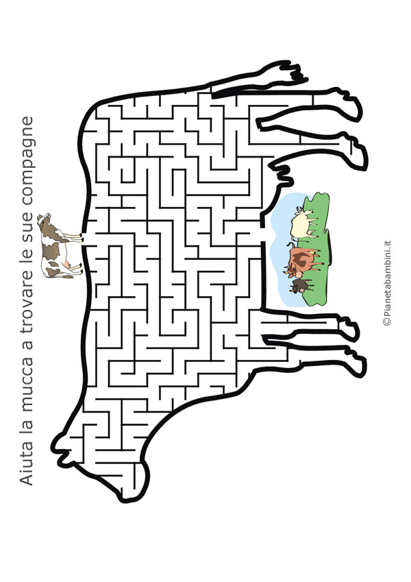 Labirinto a forma di mucca