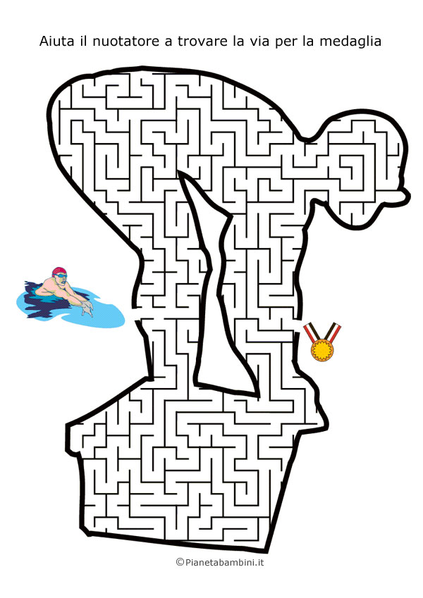 Labirinto a forma di nuotatore