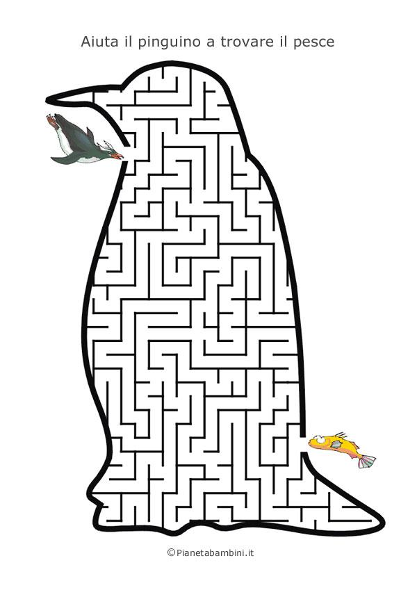Labirinto a forma di pinguino