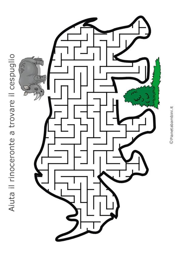 Labirinto a forma di rinoceronte
