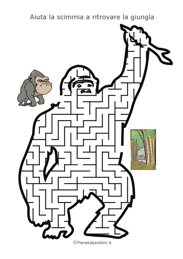 Labirinto a forma di scimmia