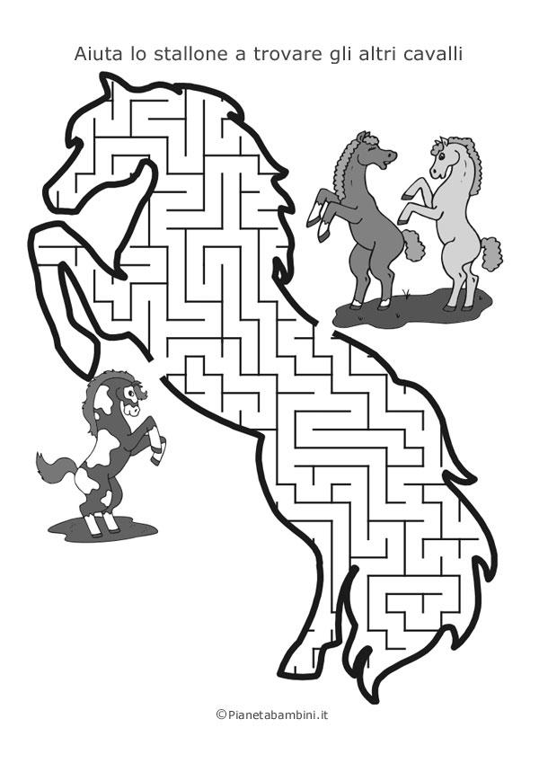 Labirinto a forma di stallone