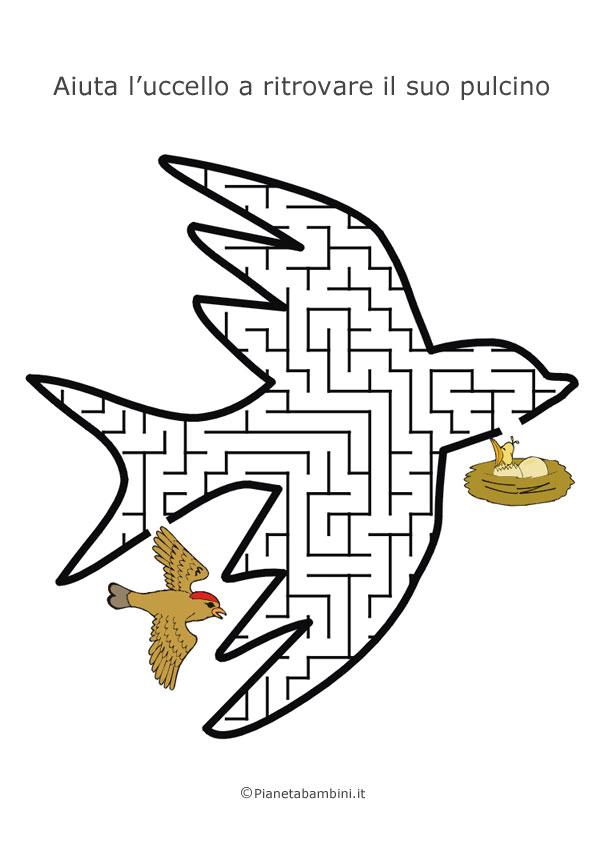 Labirinto a forma di uccello