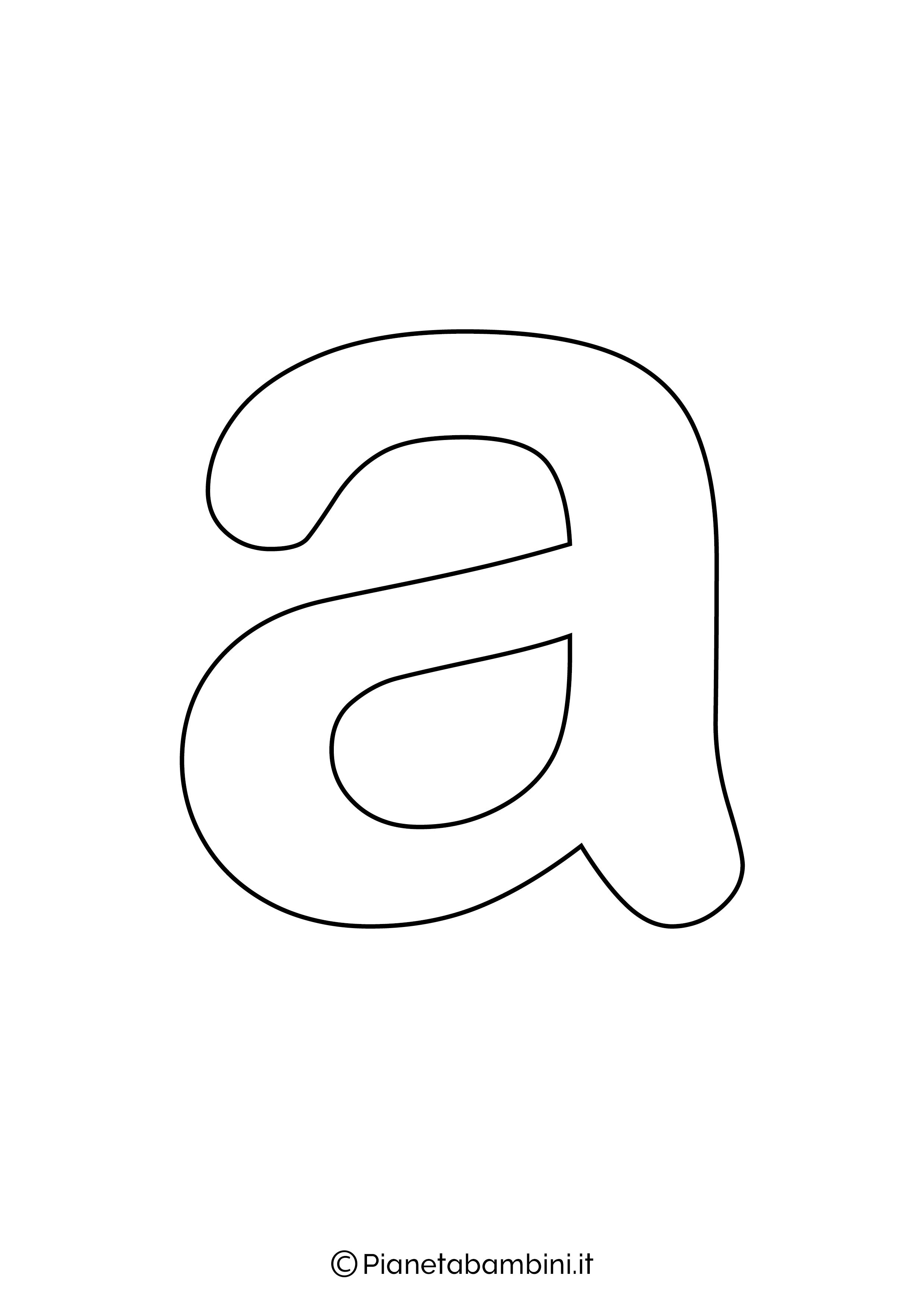Lettera A minuscola da stampare