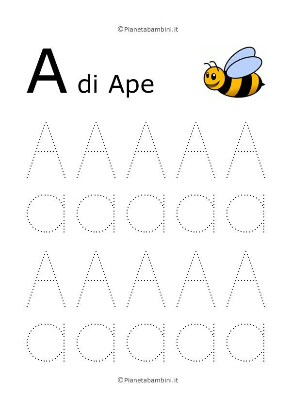 Conosciuto Imparare a Scrivere le Lettere dell'Alfabeto | PianetaBambini.it MQ53