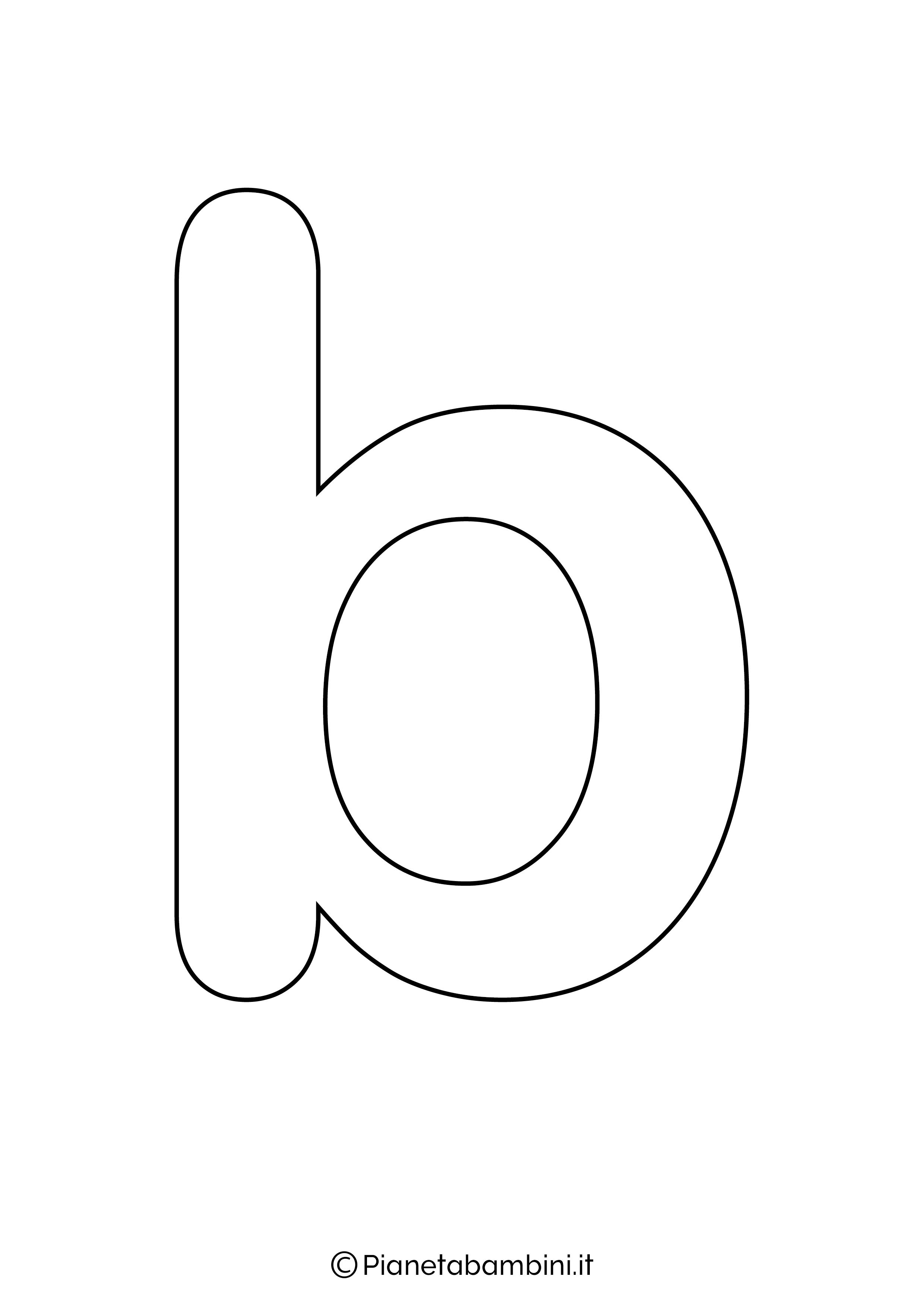 Lettera B minuscola da stampare