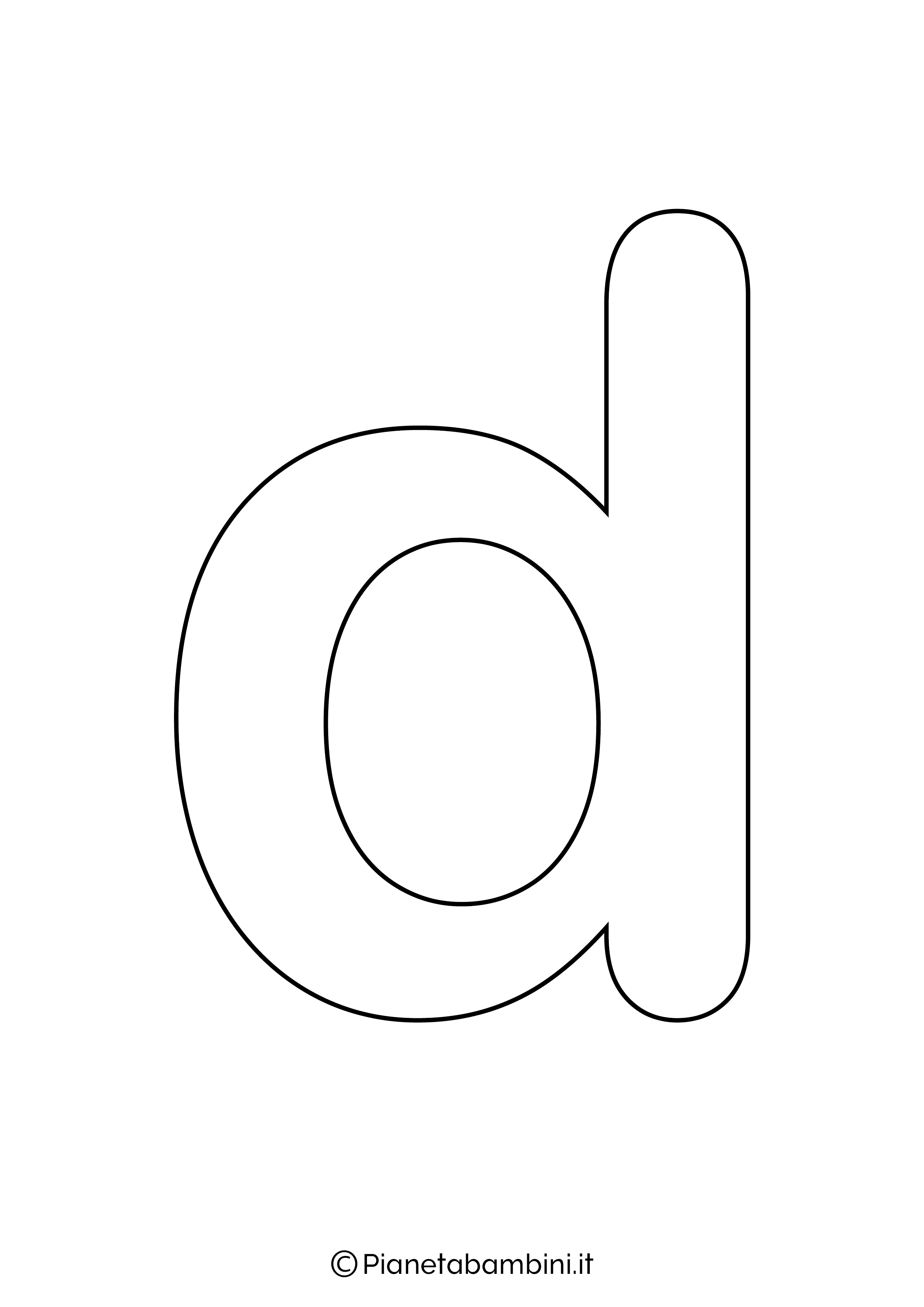 Lettera D minuscola da stampare