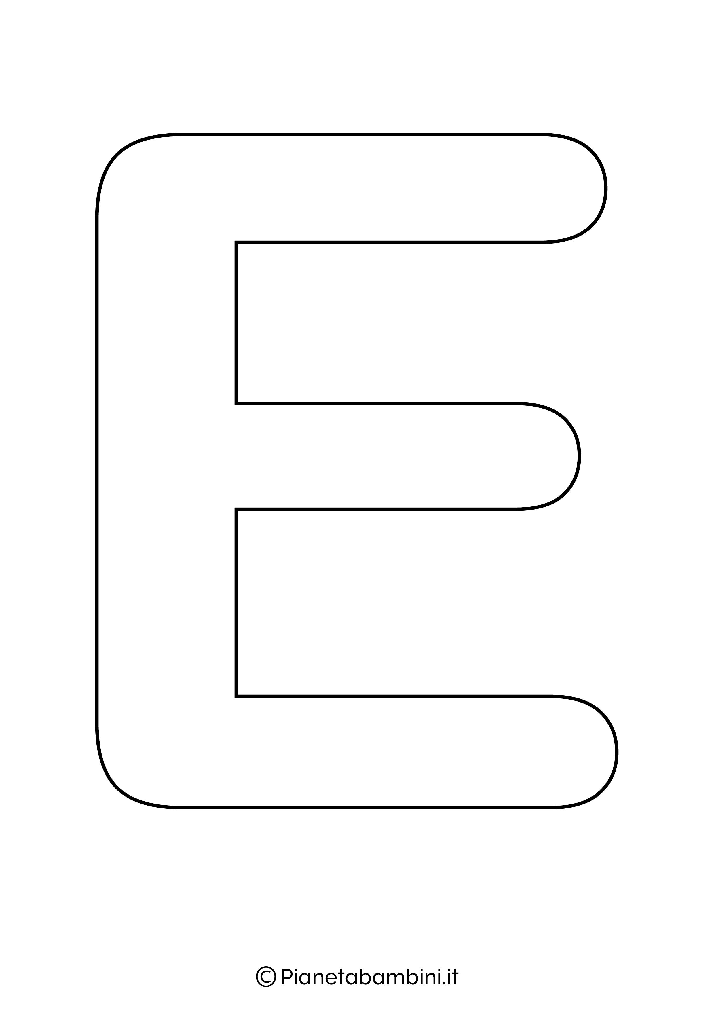 Lettera E maiuscola da stampare