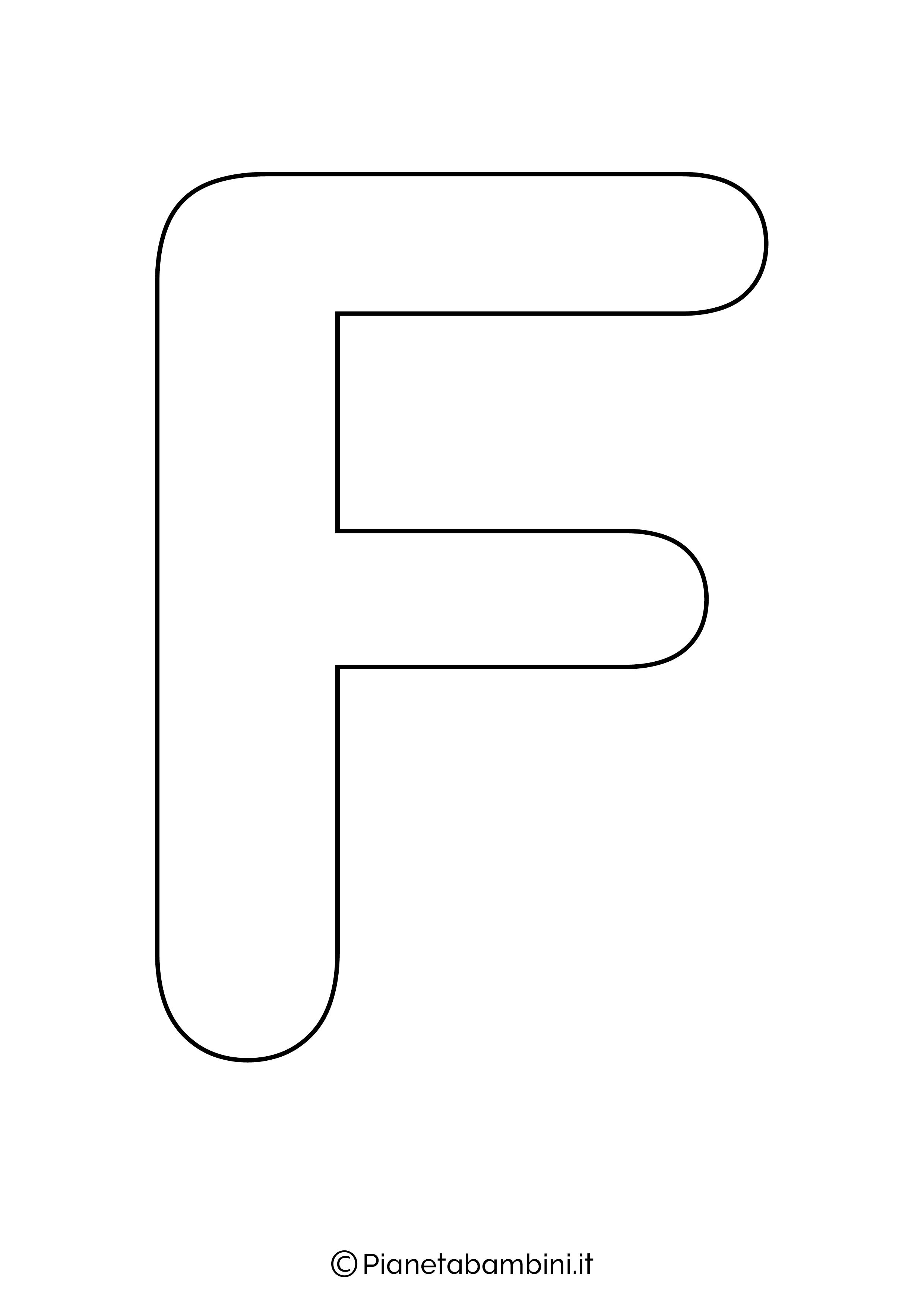 Lettera F maiuscola da stampare