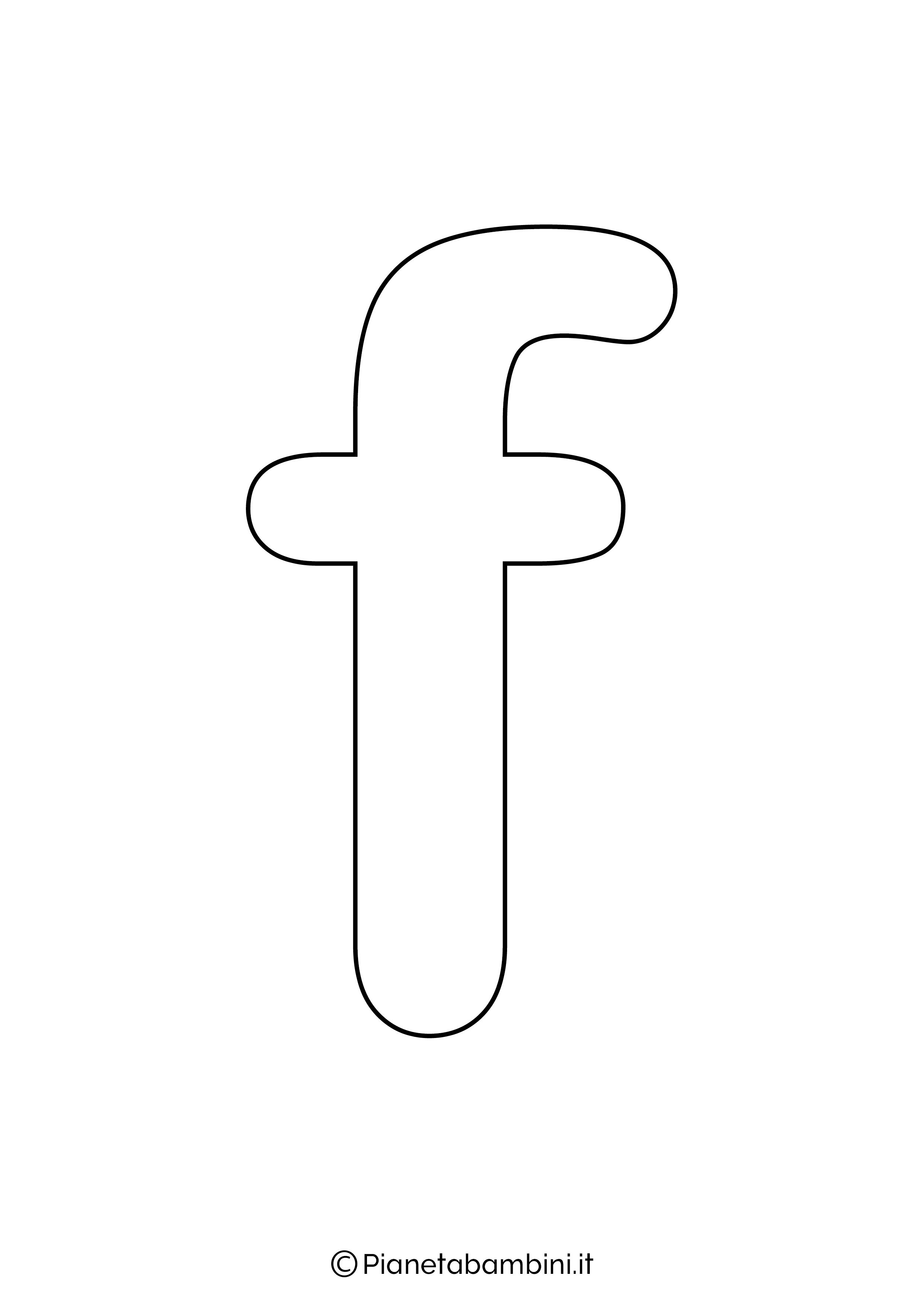 Lettera F minuscola da stampare