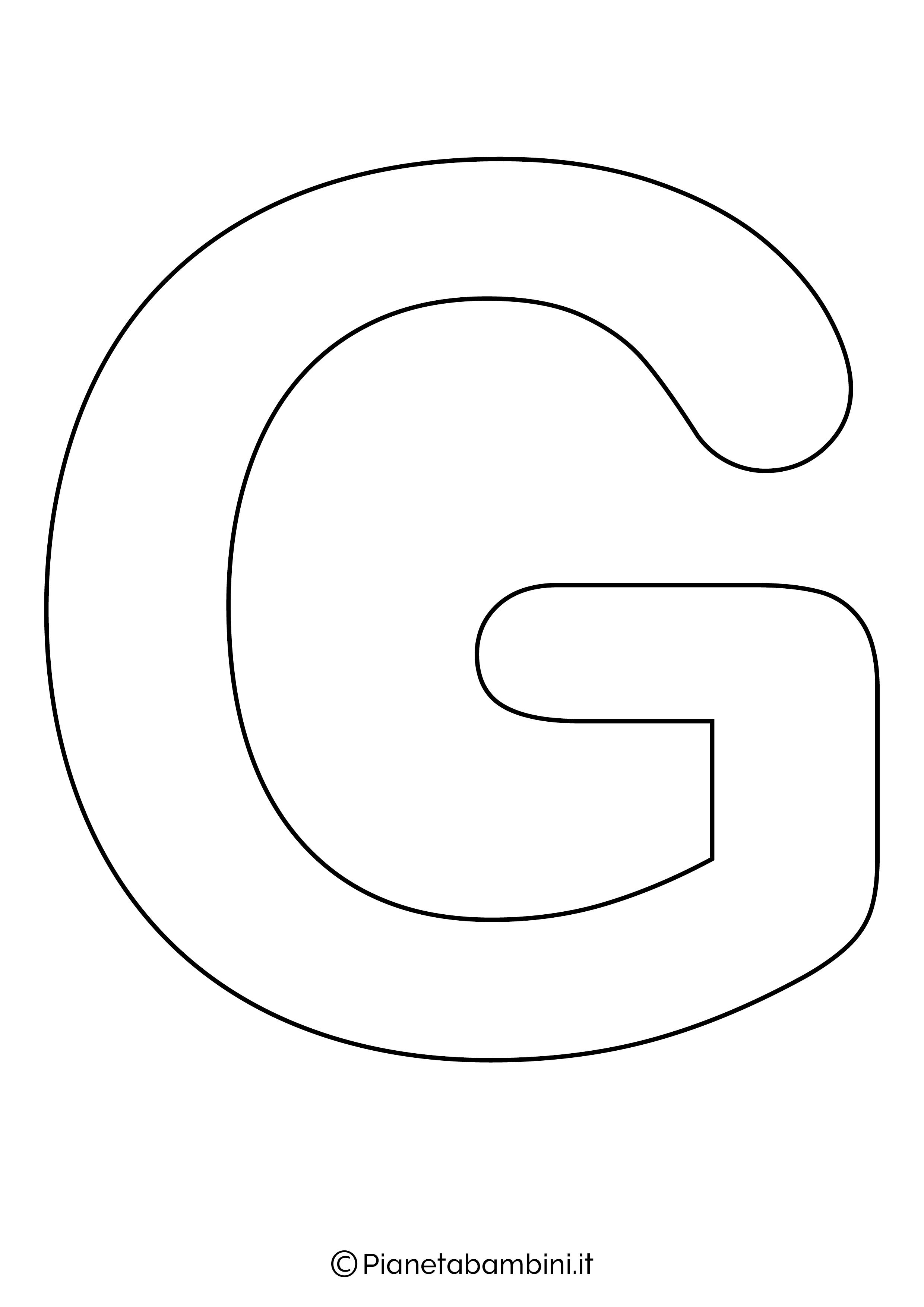 Lettera G maiuscola da stampare