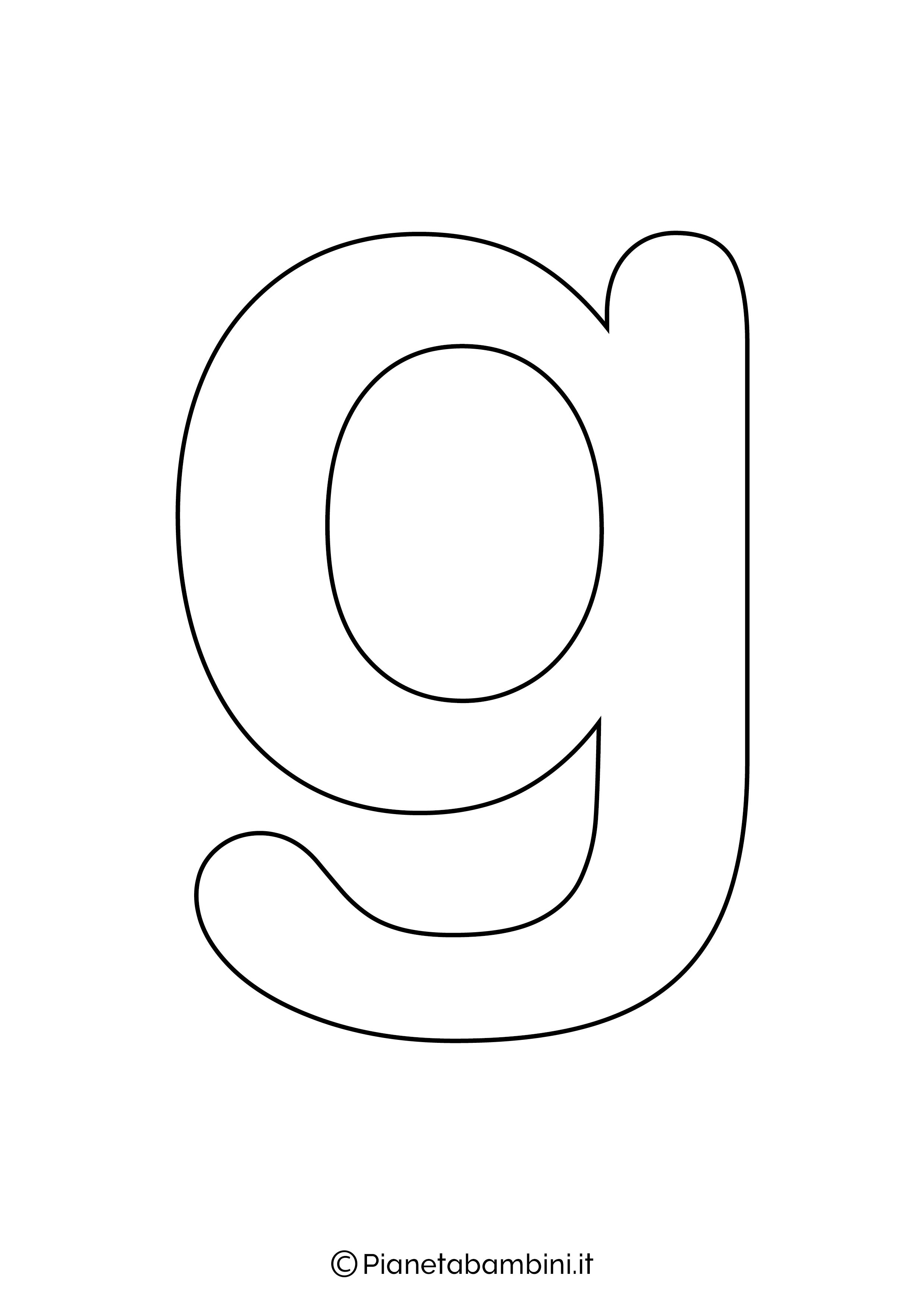 Lettera G minuscola da stampare