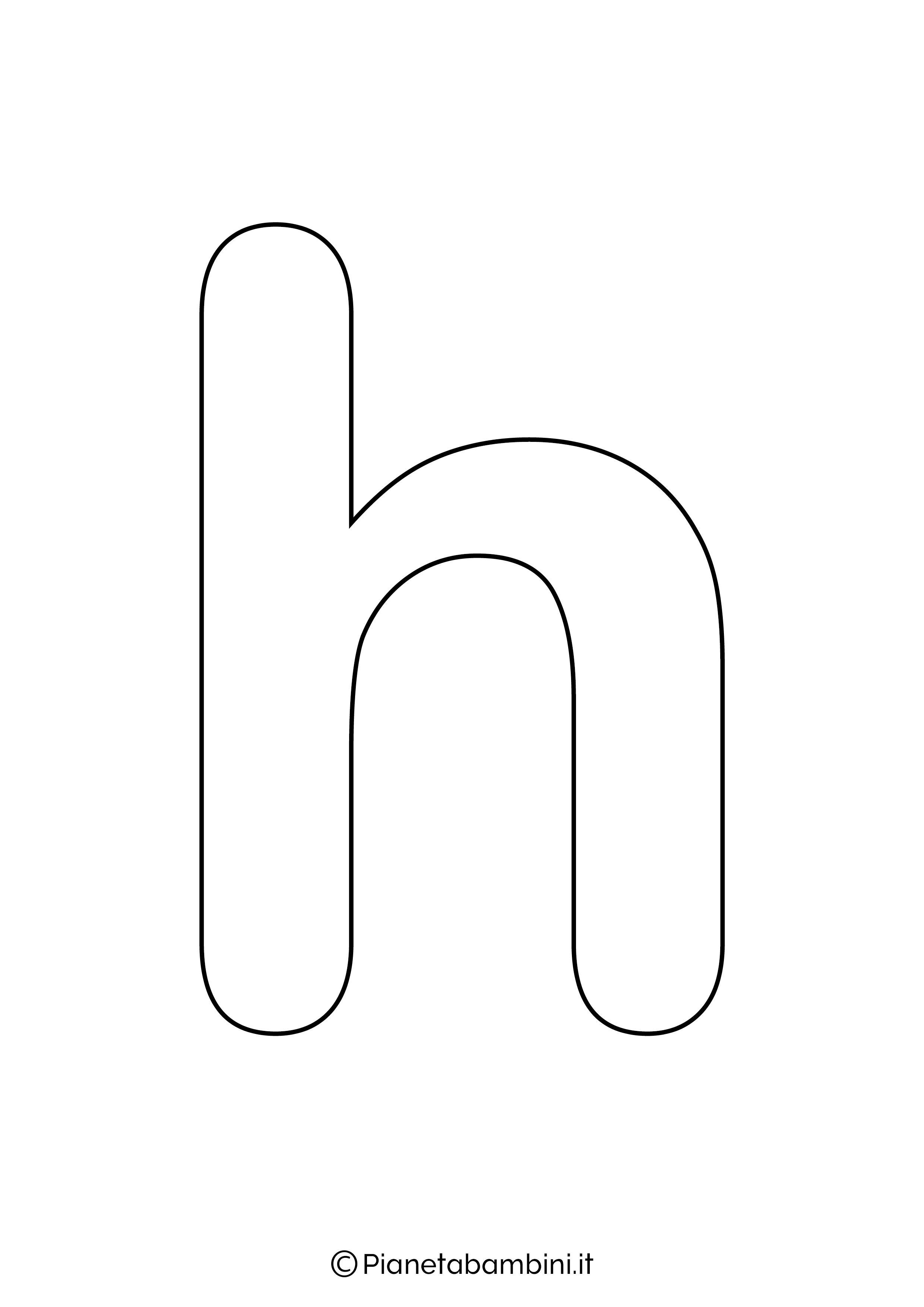 Lettera H minuscola da stampare