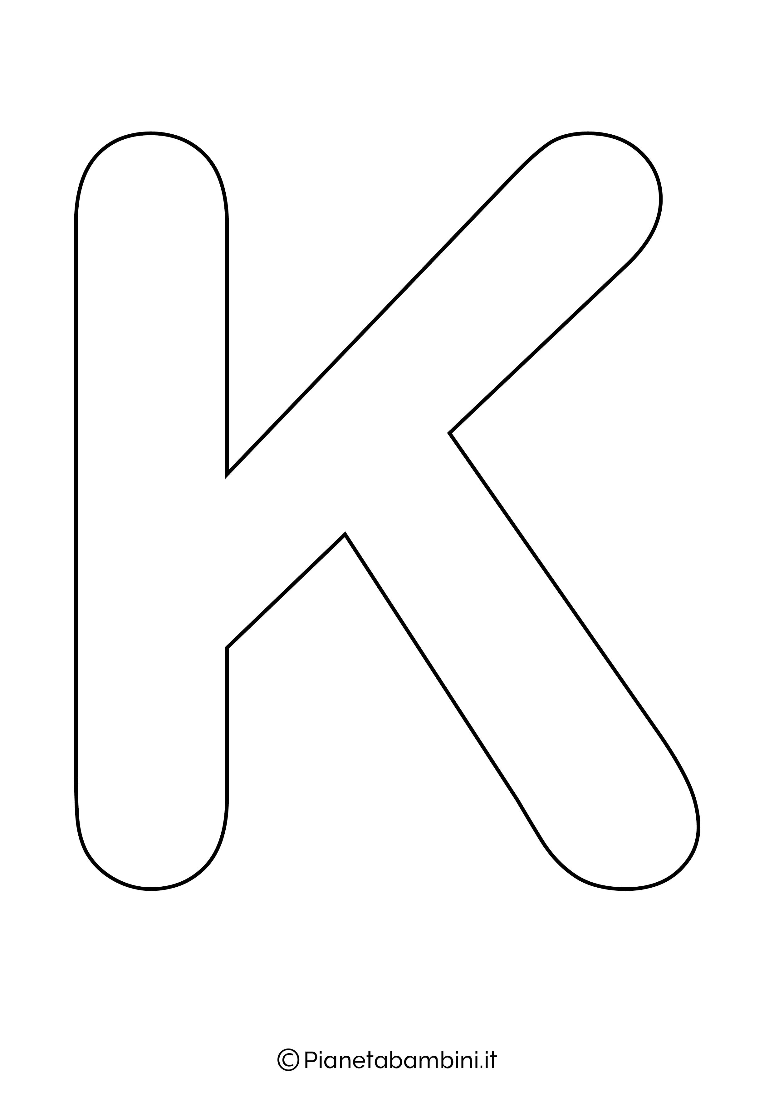 Lettera K maiuscola da stampare