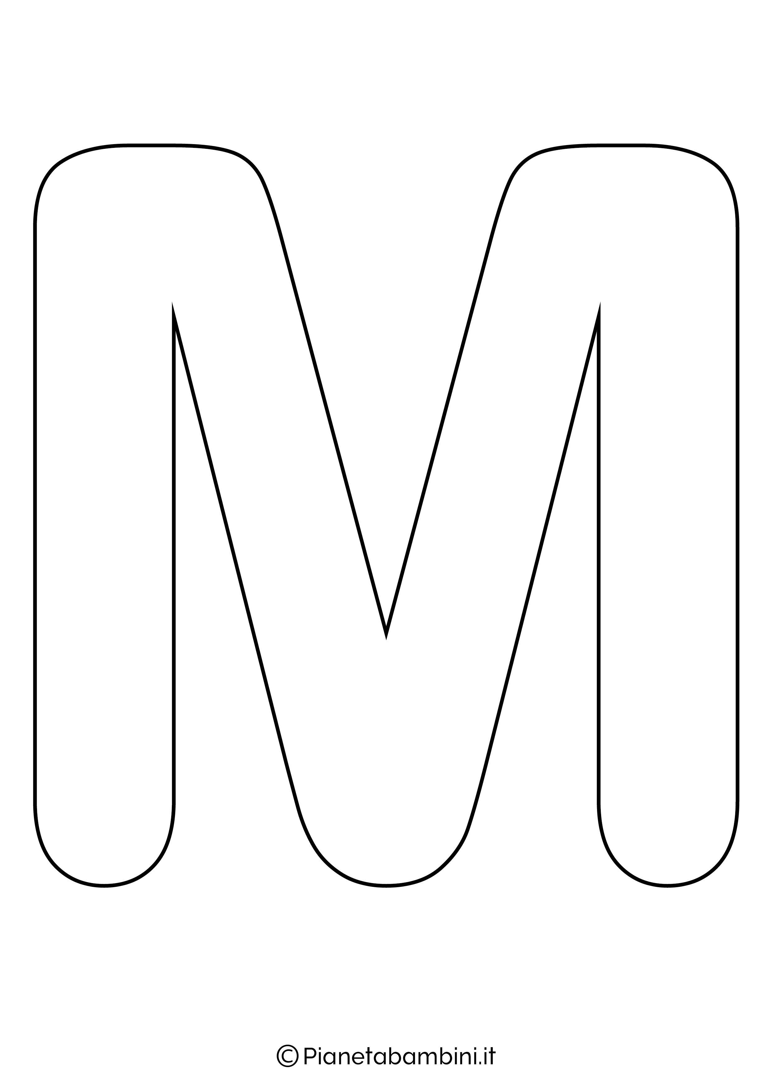 Lettera M maiuscola da stampare