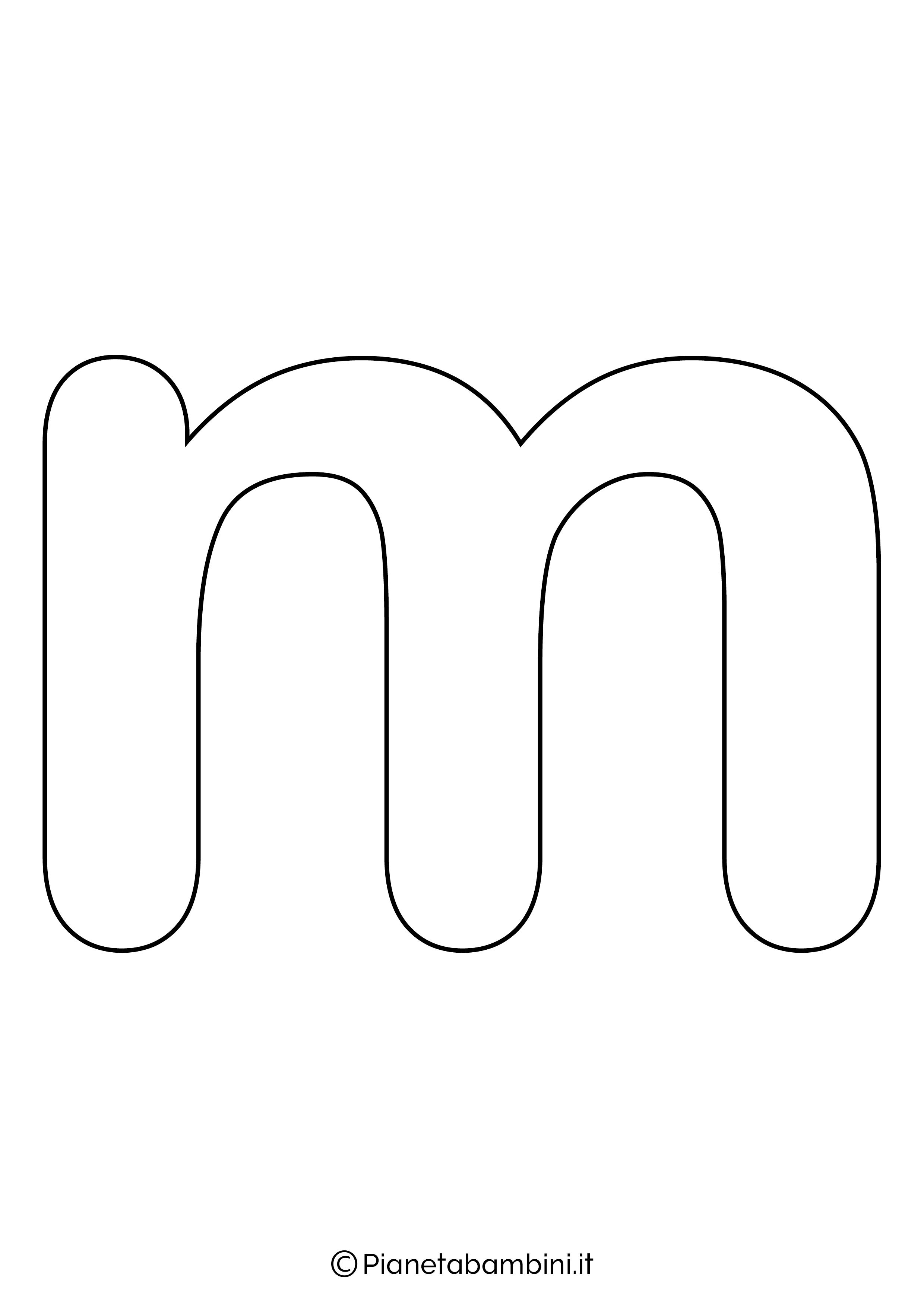 Lettera M minuscola da stampare