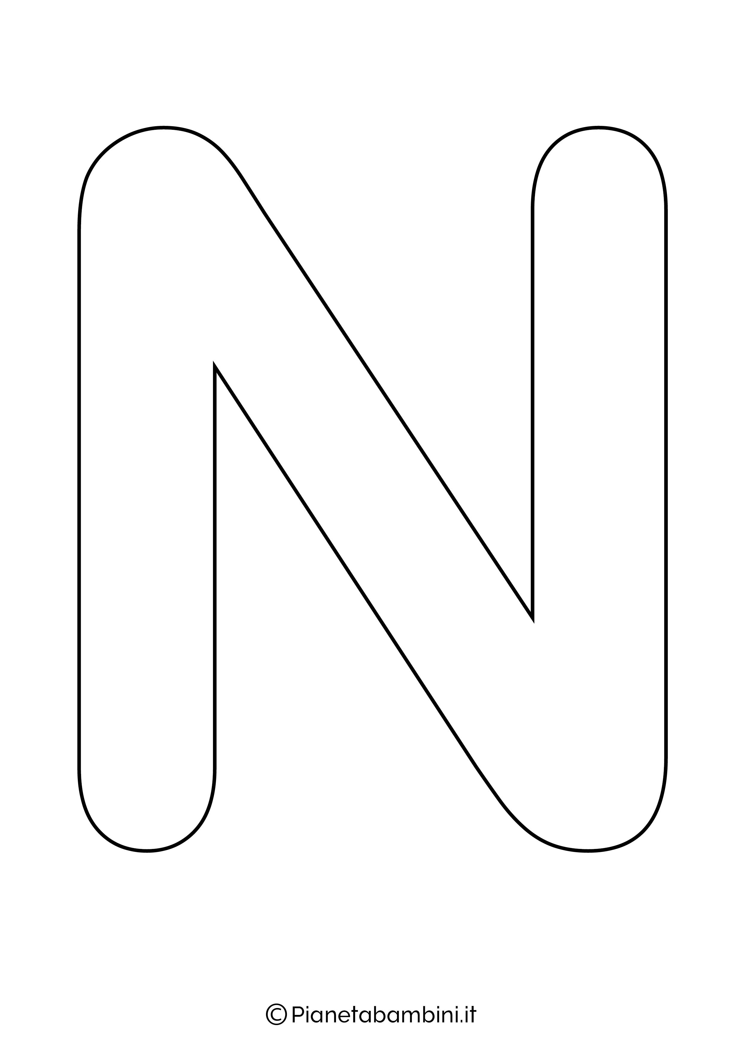 Lettera N maiuscola da stampare