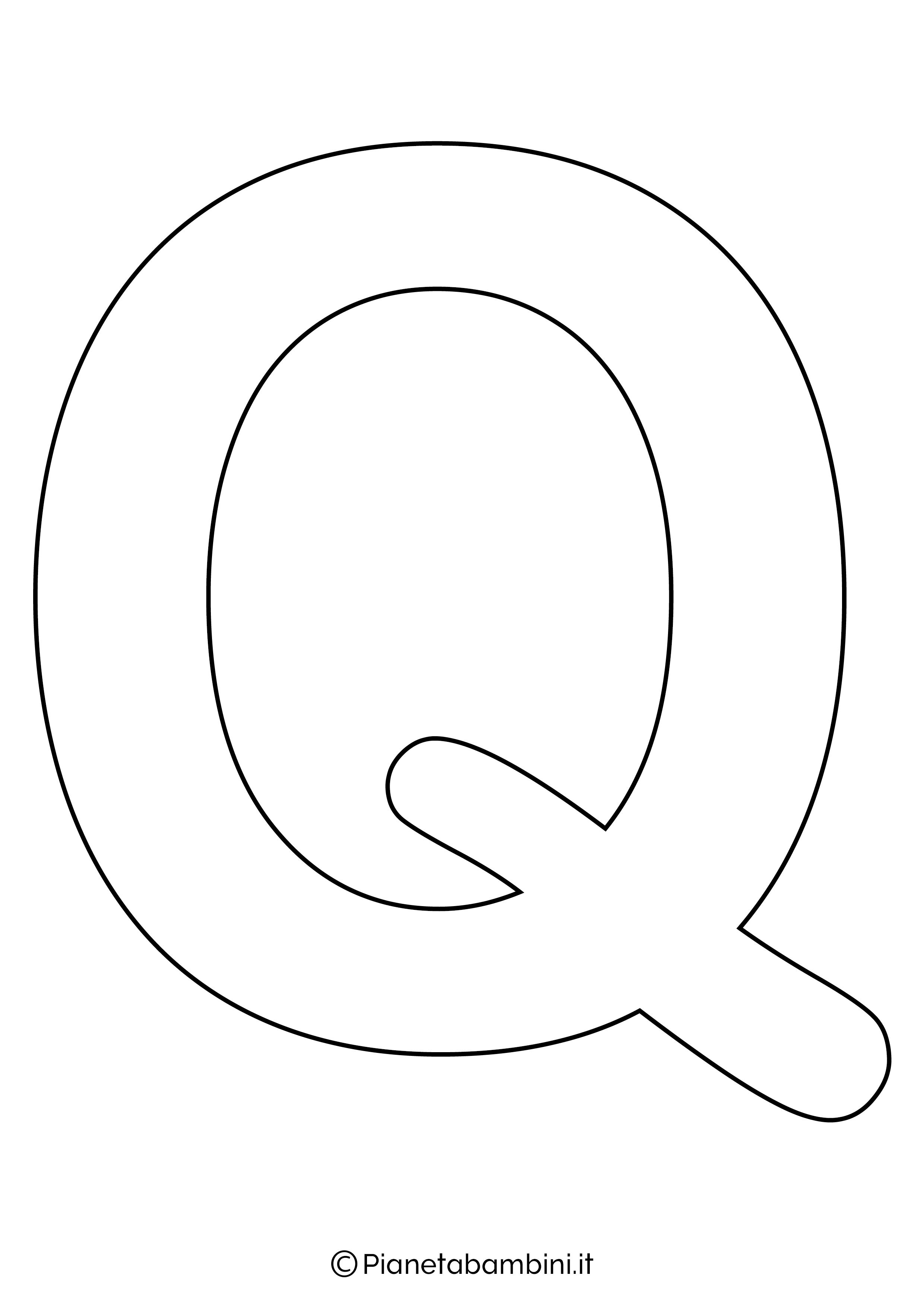 Lettera Q maiuscola da stampare