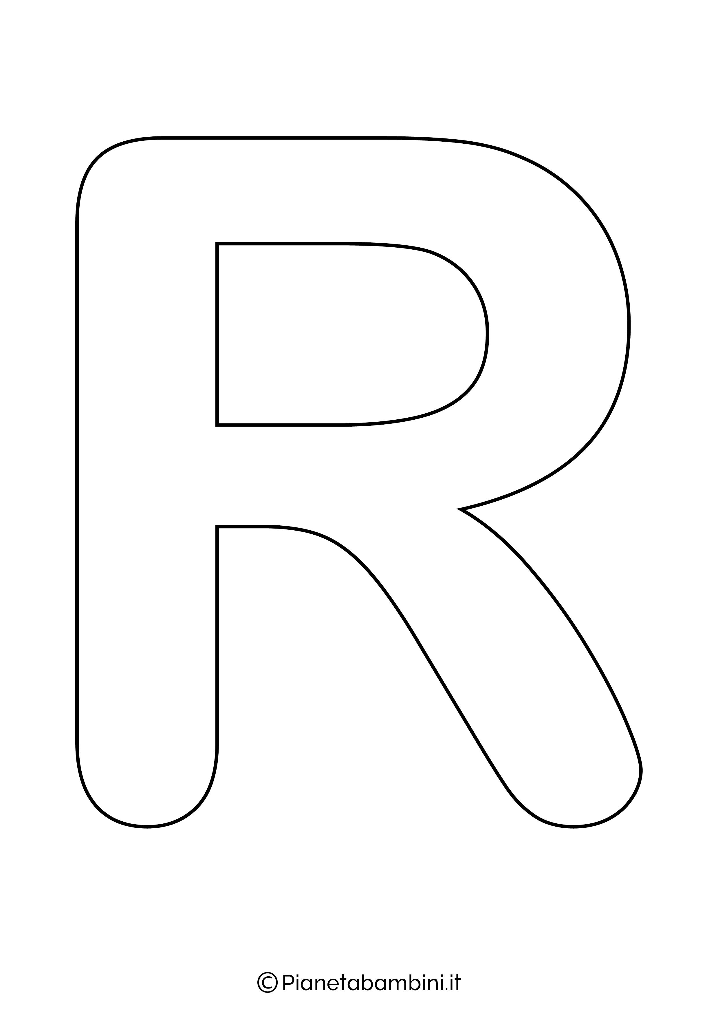Lettera R maiuscola da stampare