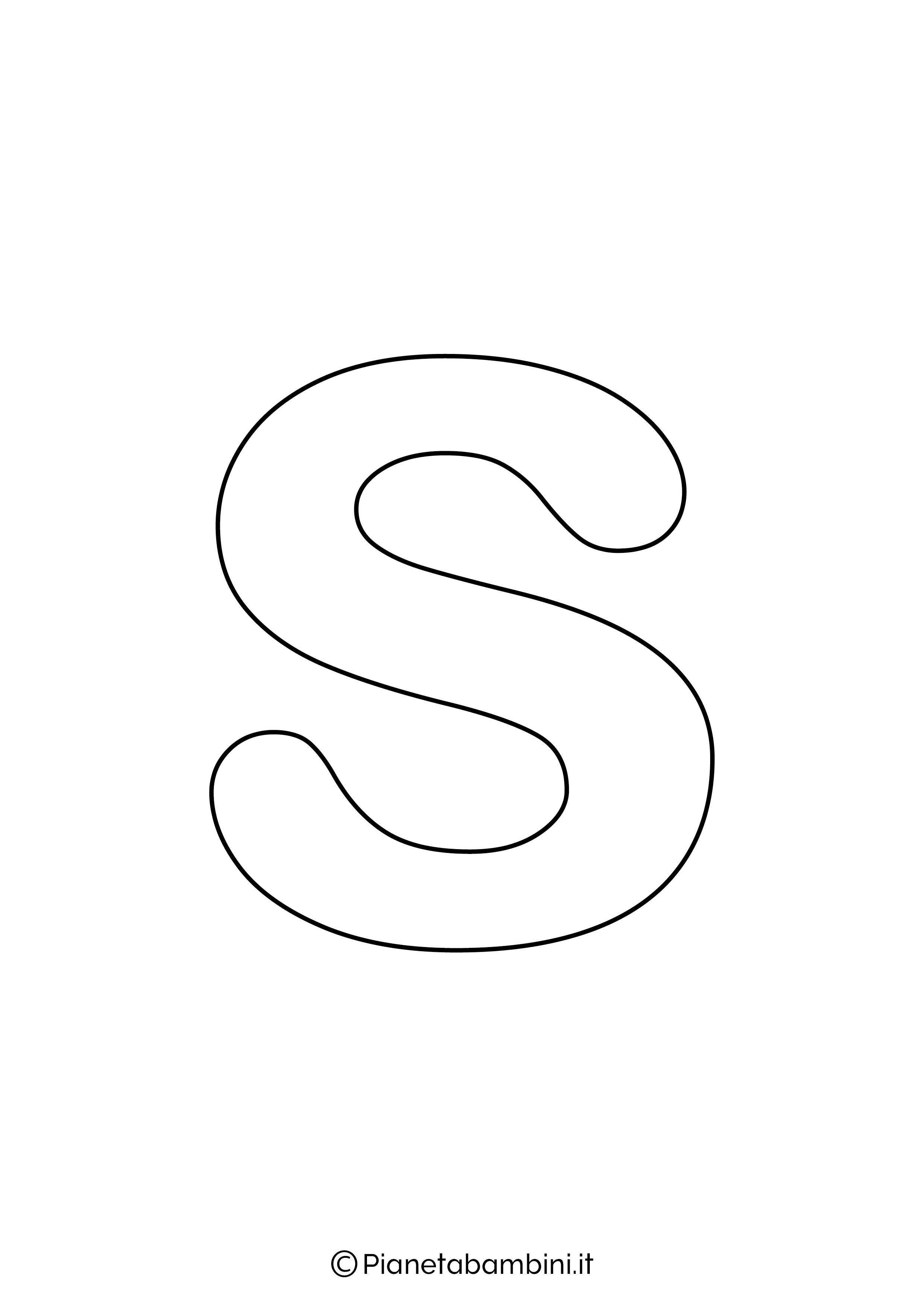 Lettera S minuscola da stampare