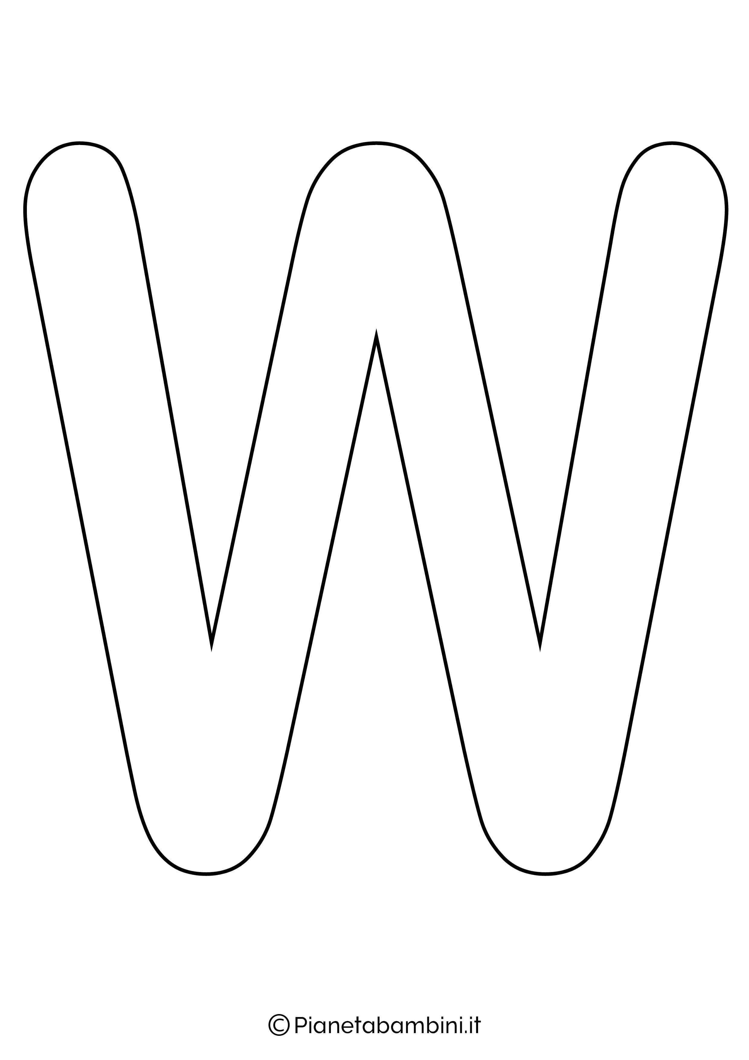 Lettera W maiuscola da stampare