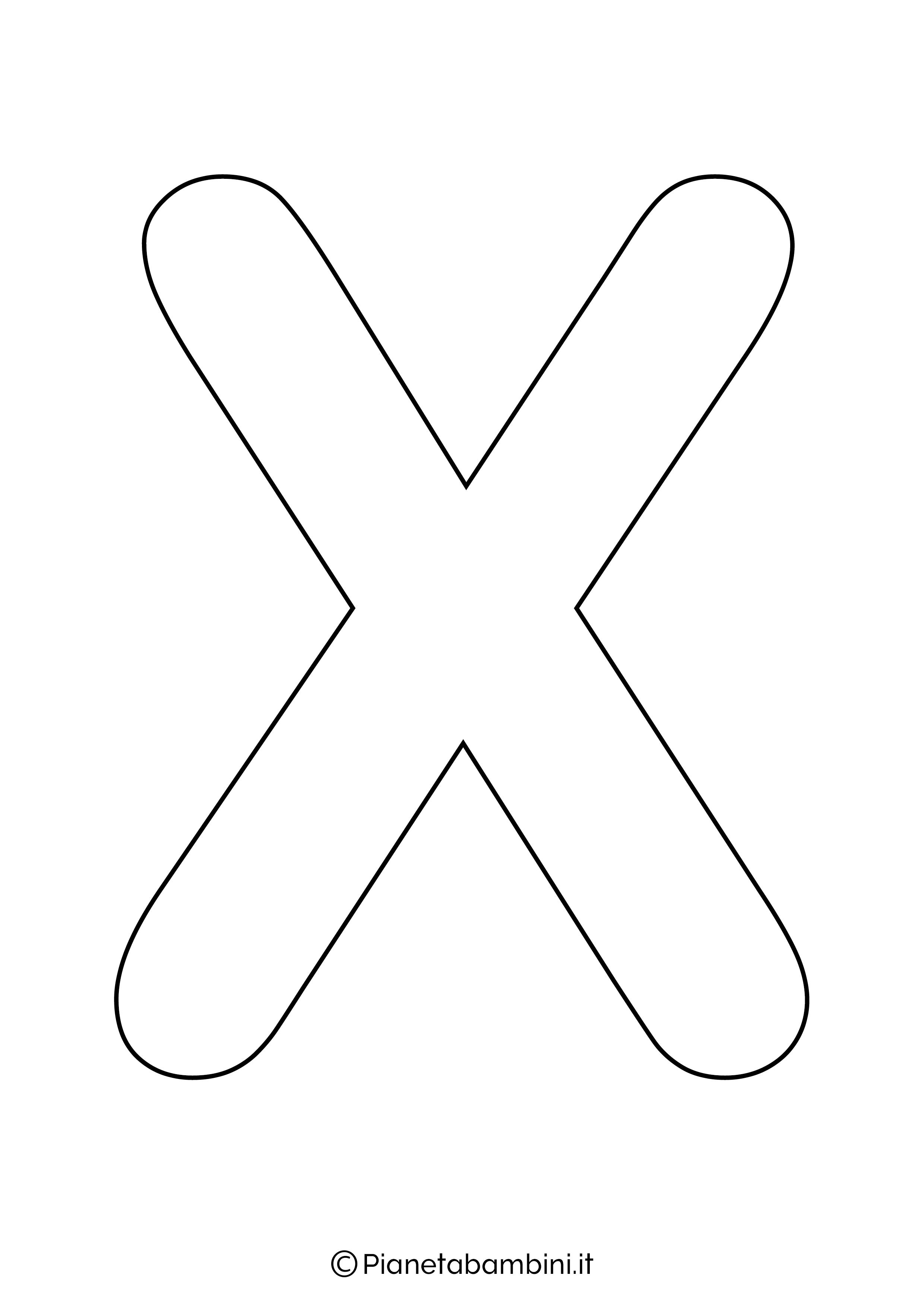 Lettera X maiuscola da stampare