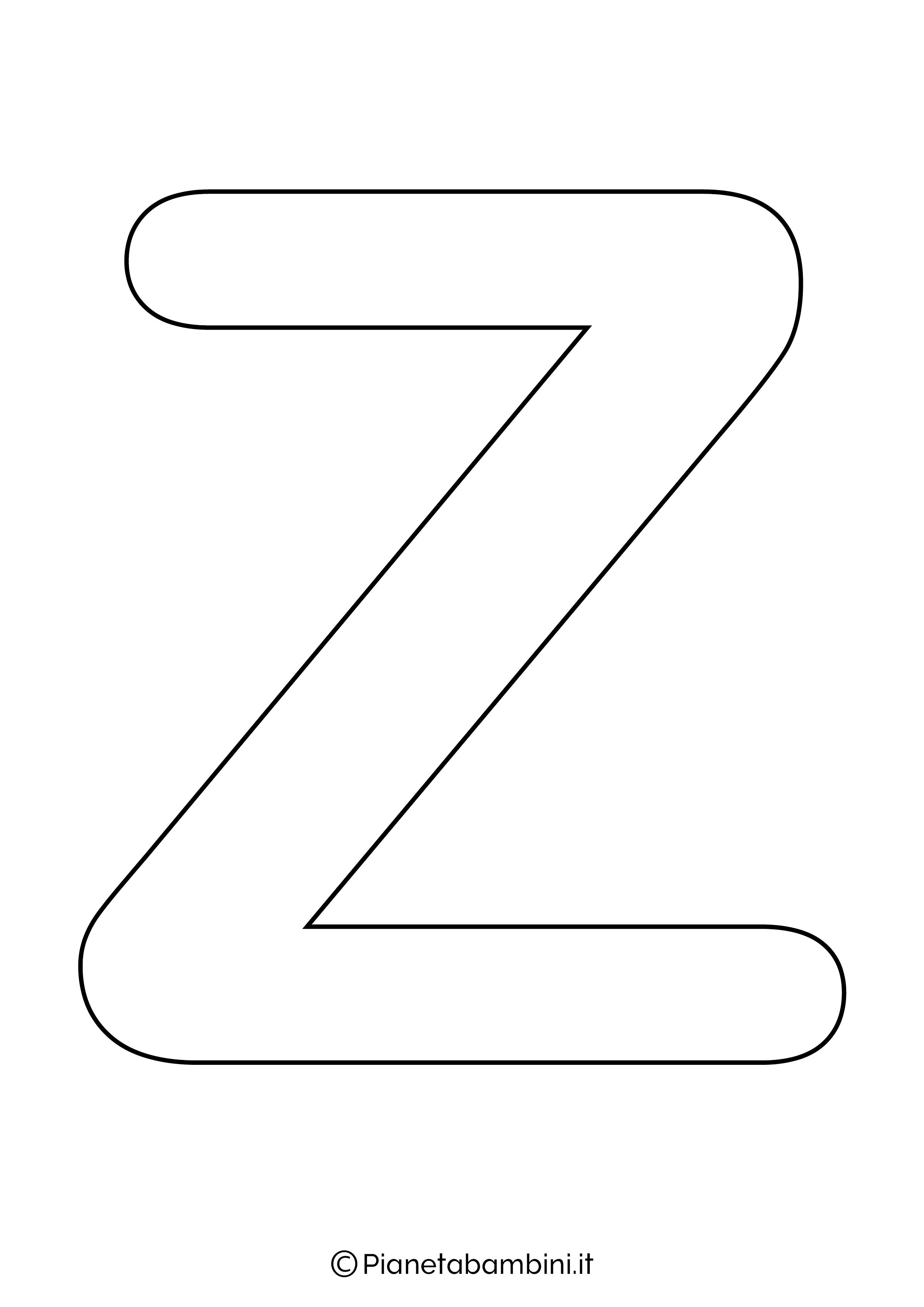 Lettera Z Maiuscola da stampare