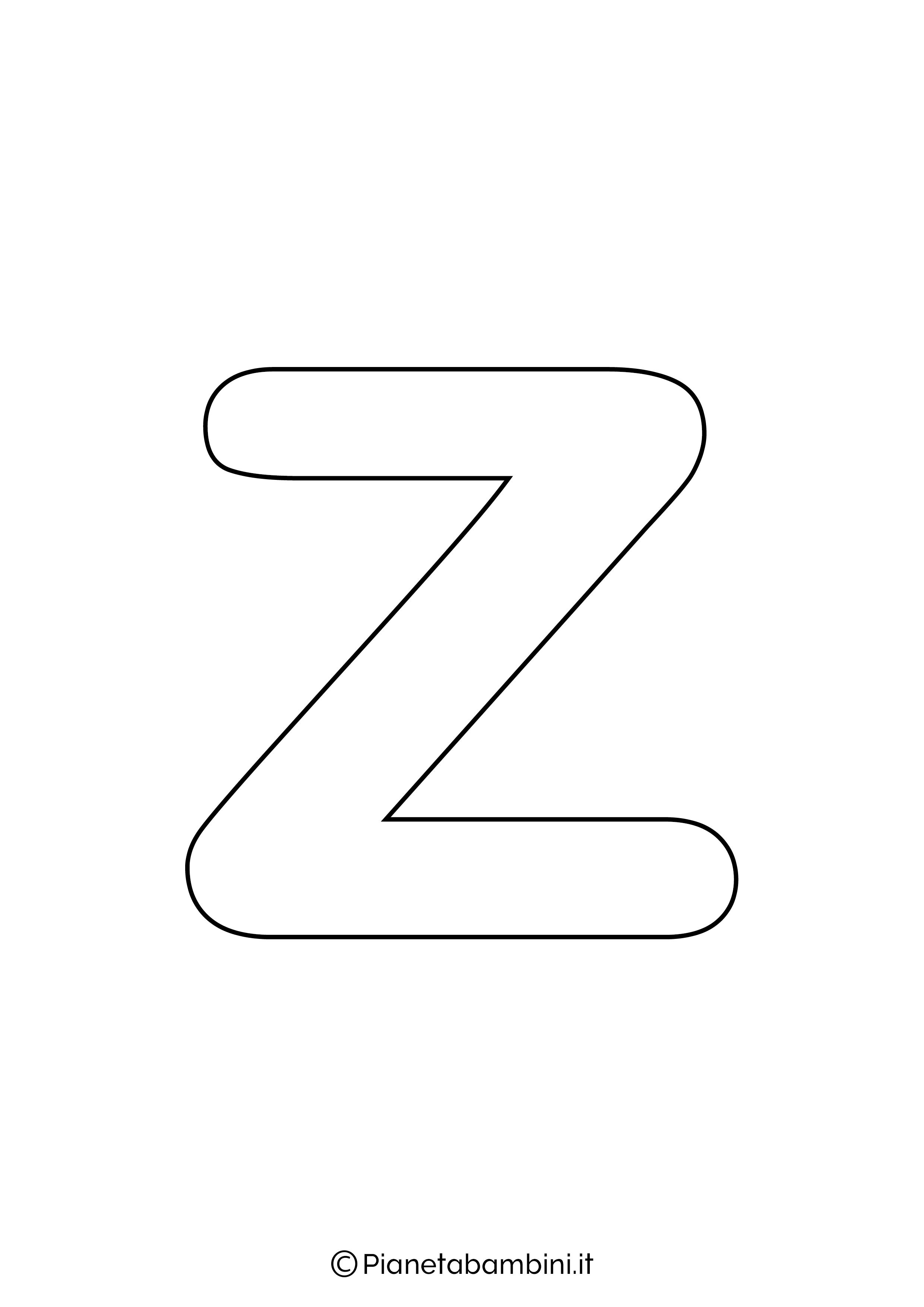 Lettera Z minuscola da stampare
