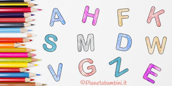 Lettere dell'alfabeto da stampare, colorare e ritagliare