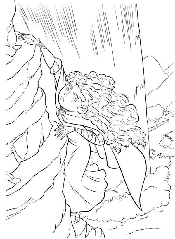 Merida climbing a riff