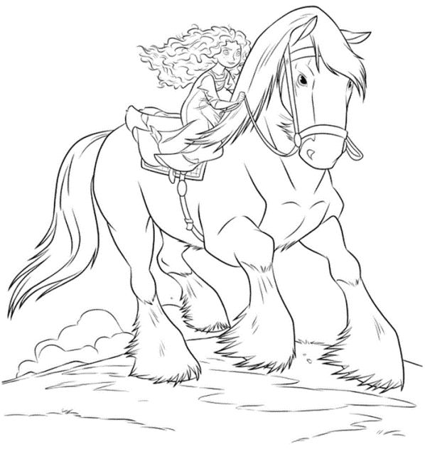 Merida riding Angus