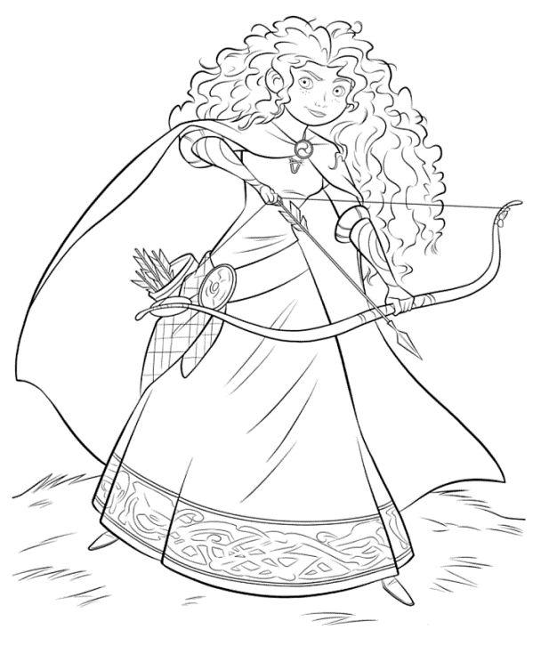 Merida with bow and arrow