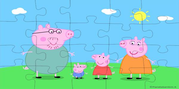 Puzzle di Peppa Pig da Ritagliare e Incollare