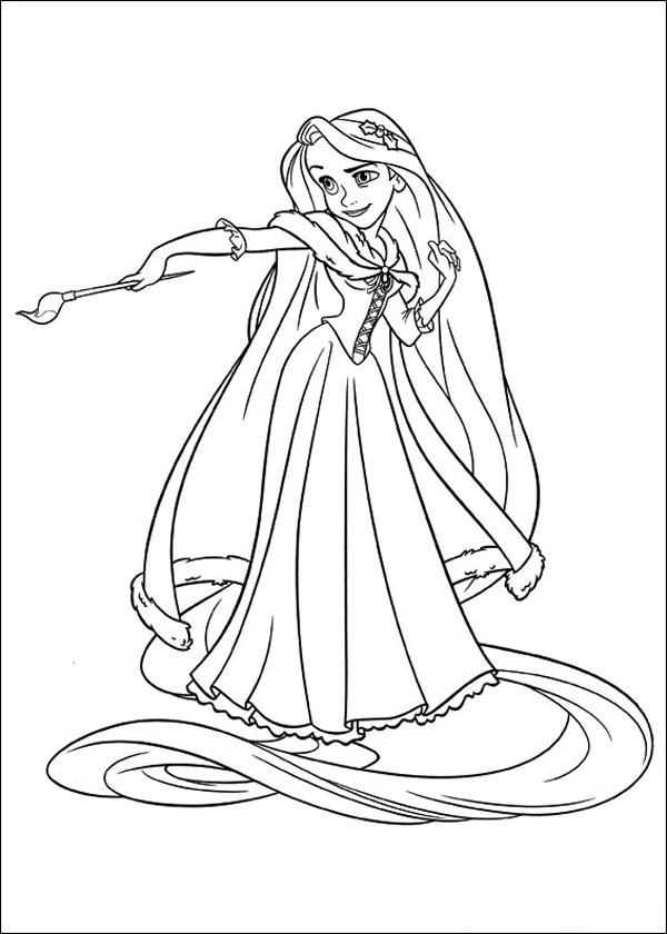 32 Disegni Da Colorare Di Rapunzel Pianetabambiniit