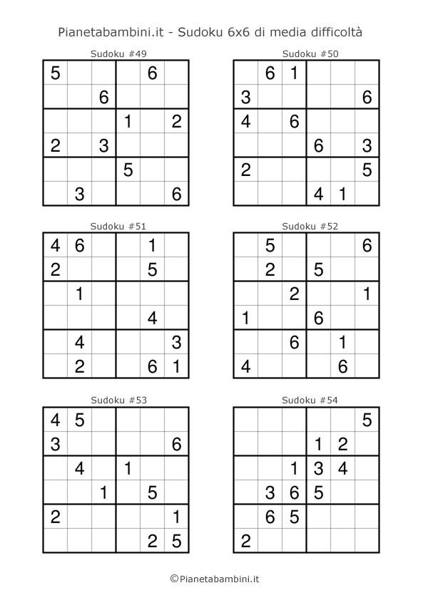 Sudoku di media difficoltà per bambini da stampare pagina 9