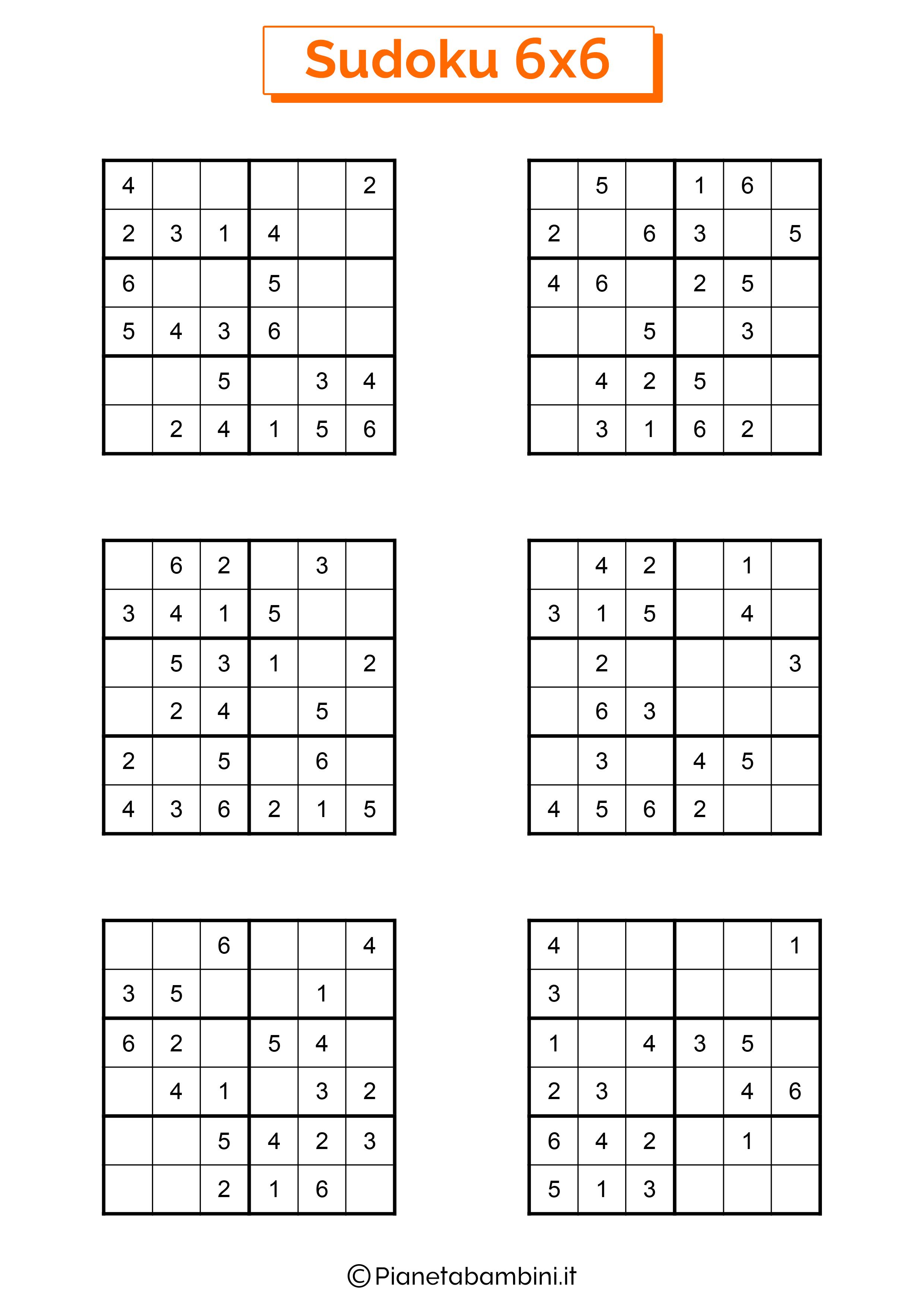 Sudoku di media difficoltà per bambini da stampare pagina 11
