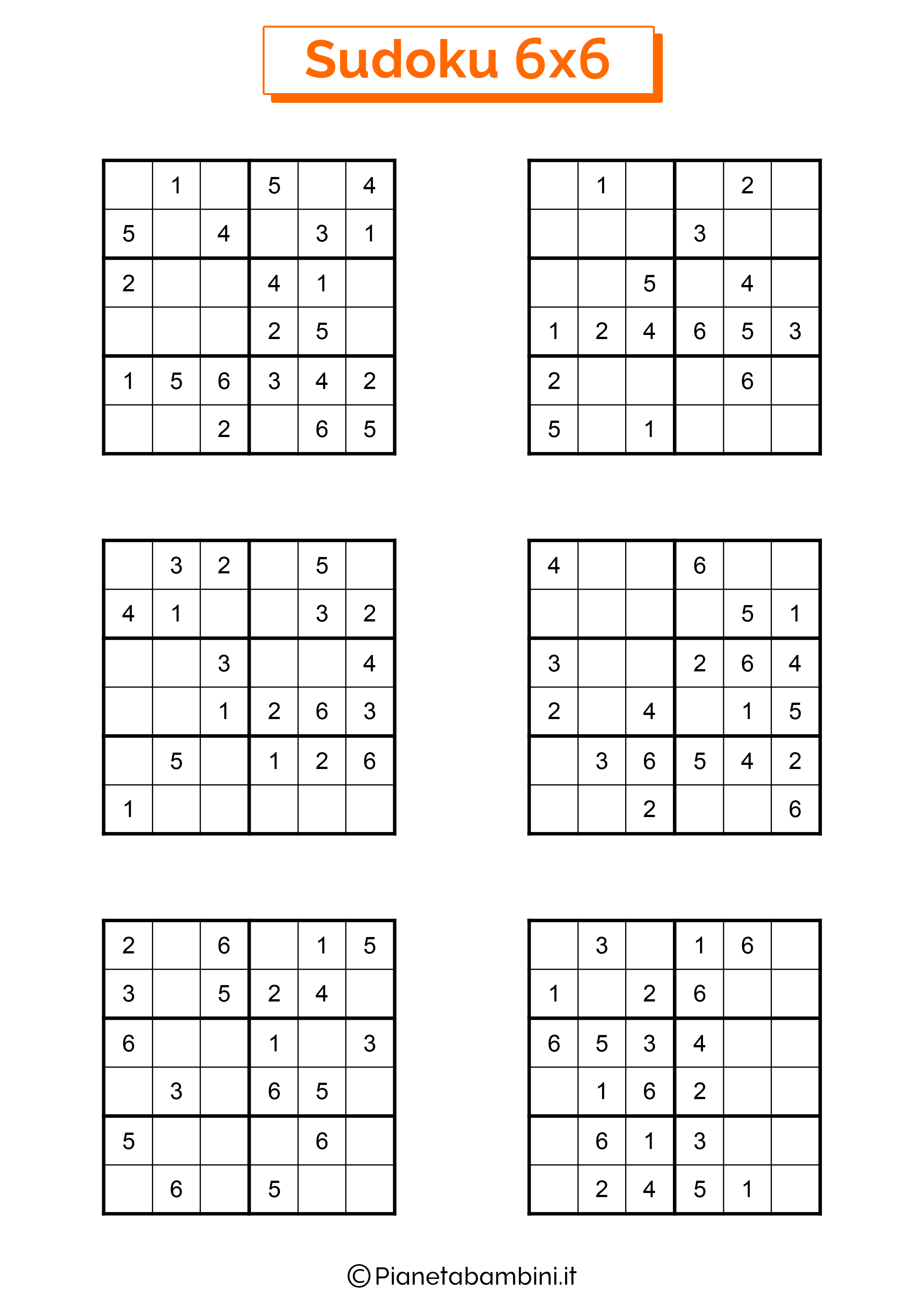 Sudoku di media difficoltà per bambini da stampare pagina 12