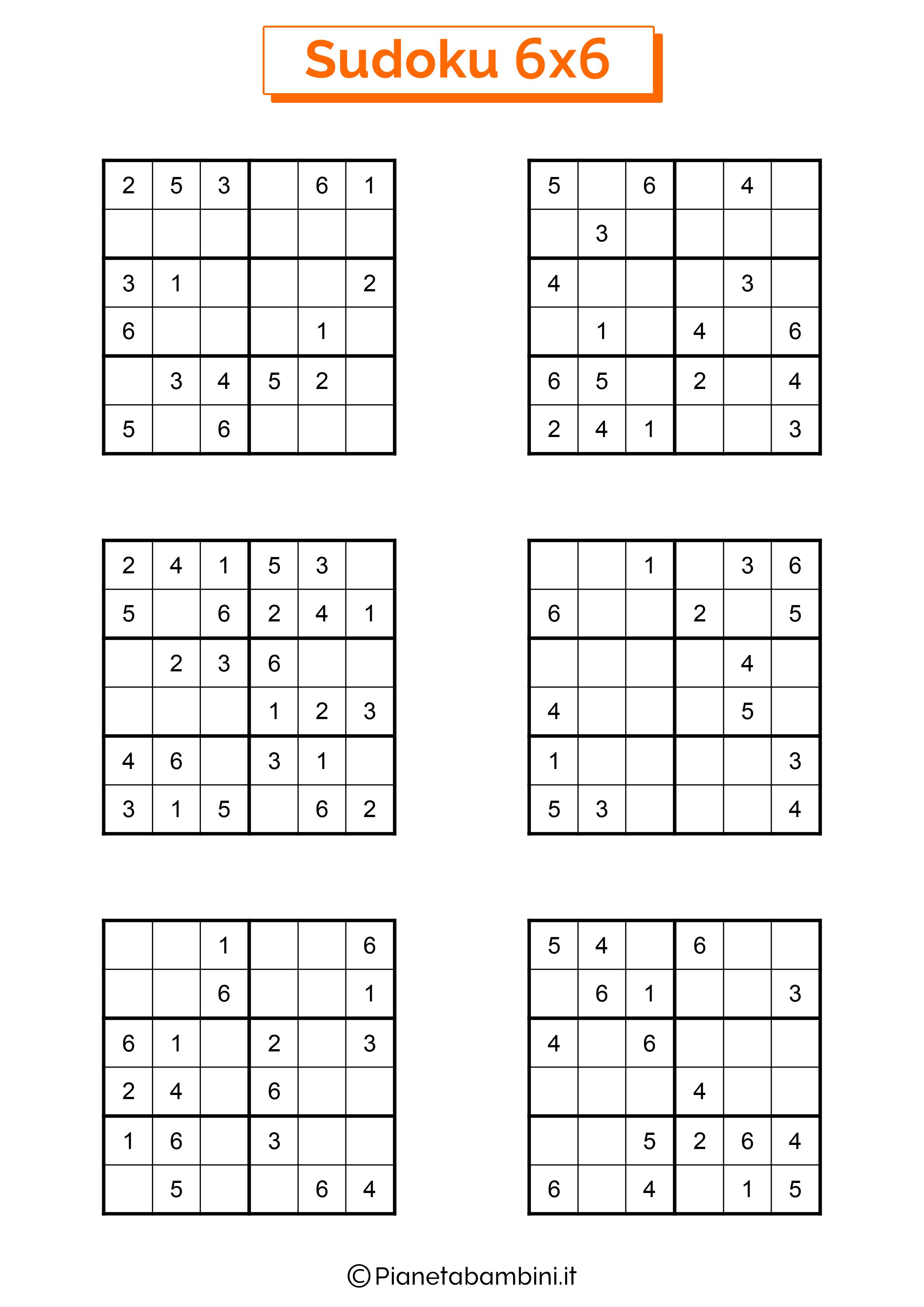 Sudoku di media difficoltà per bambini da stampare pagina 13