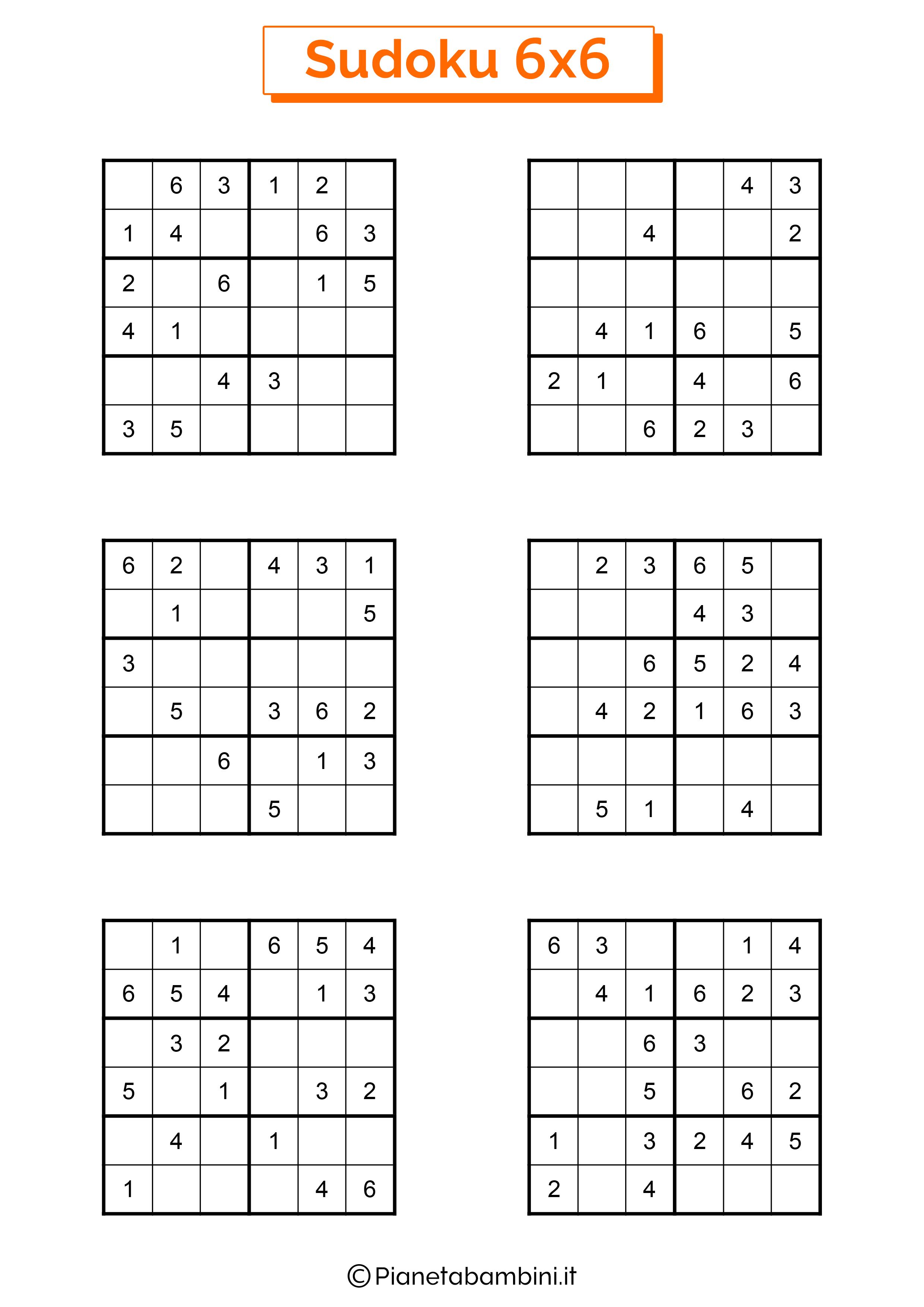Sudoku di media difficoltà per bambini da stampare pagina 14