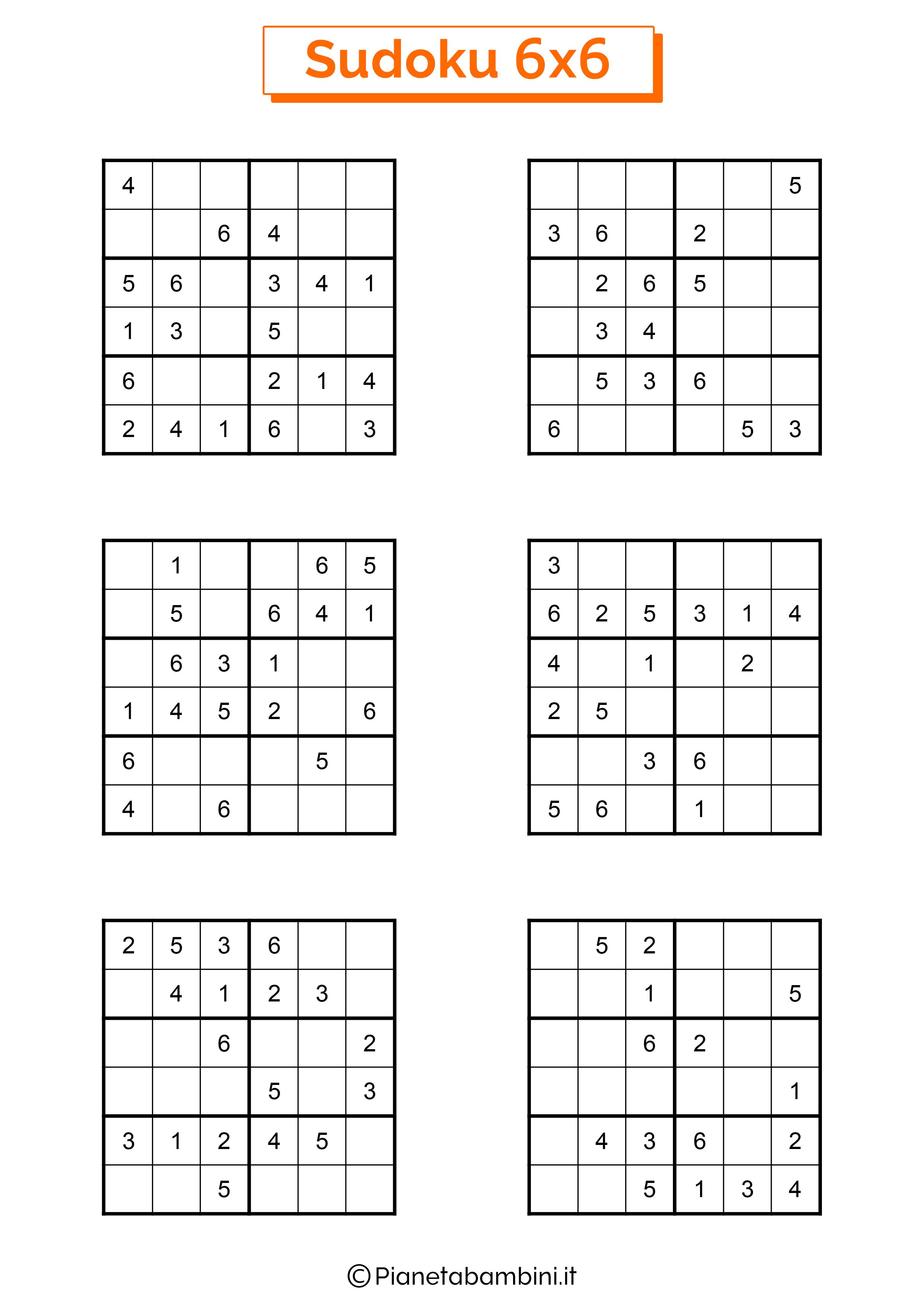 Sudoku di media difficoltà per bambini da stampare pagina 15