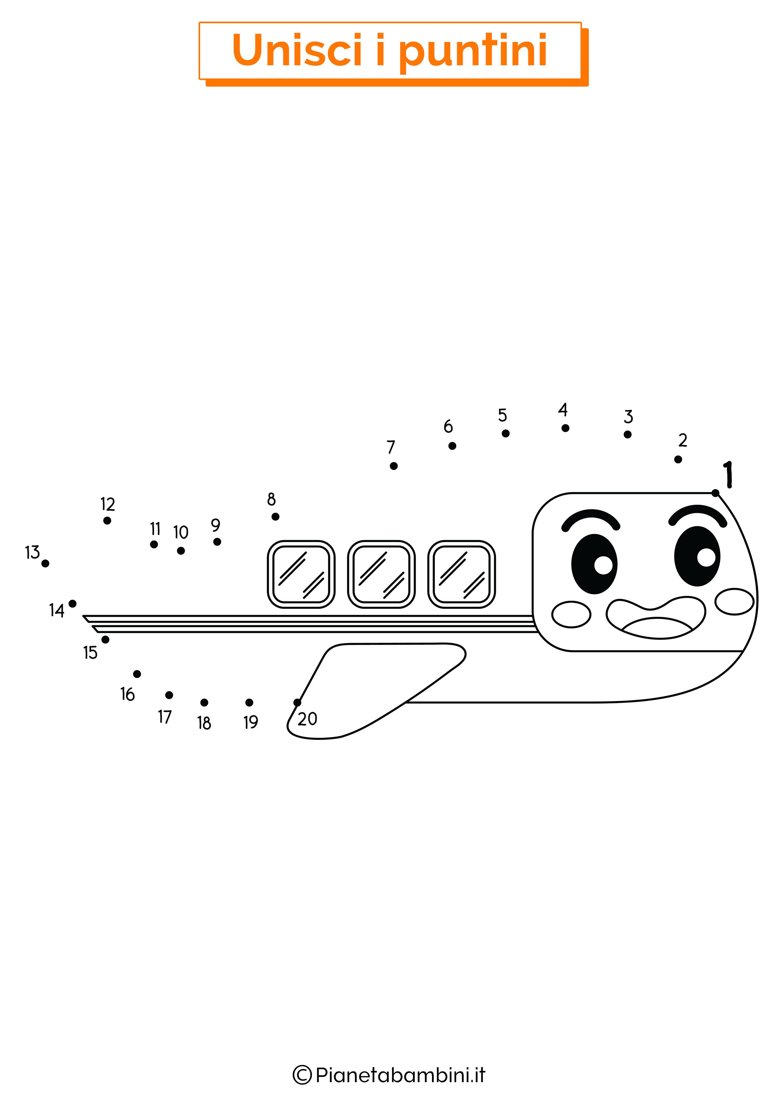 Disegno unisci i puntini aereo