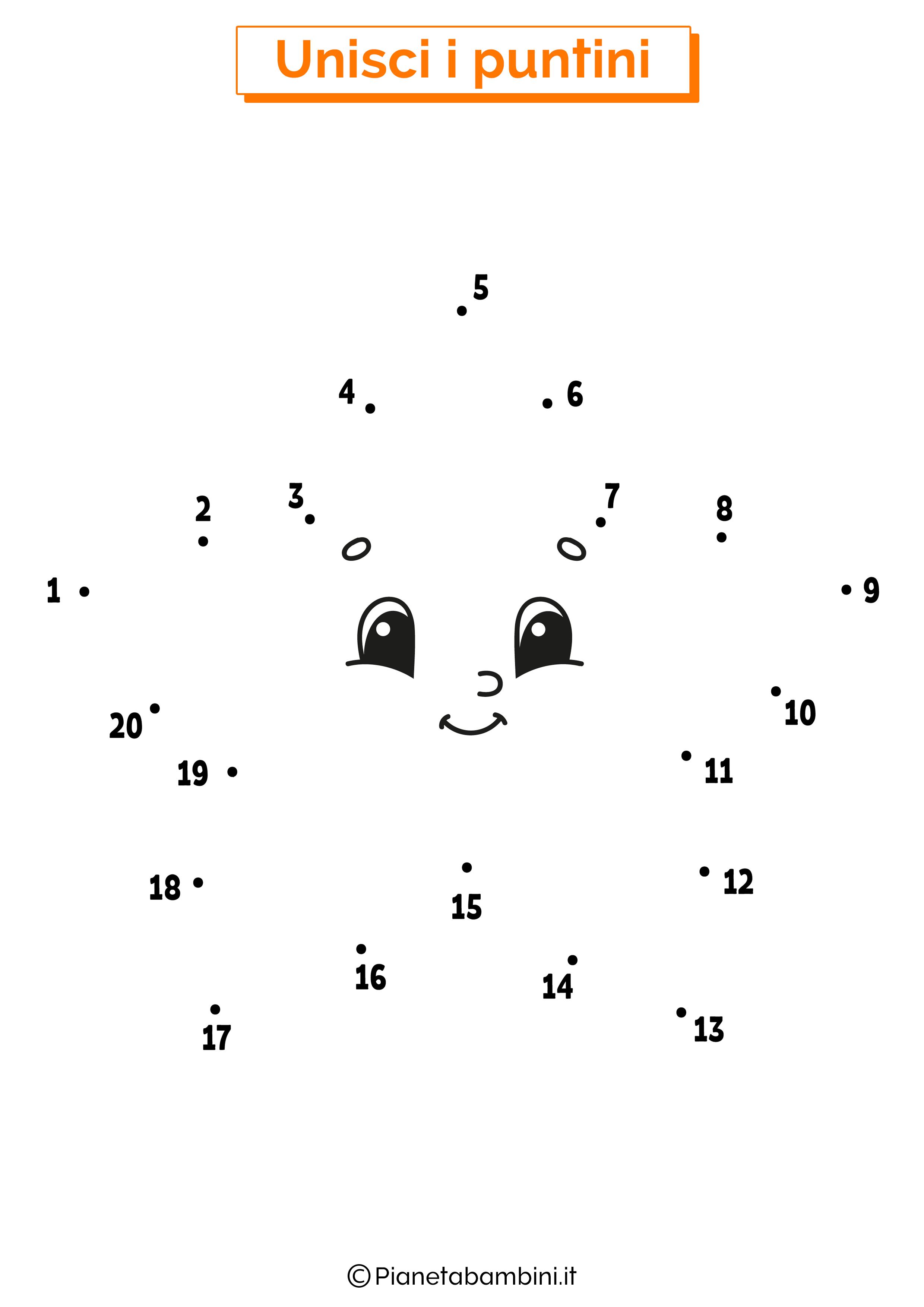 Disegno unisci i puntini stella
