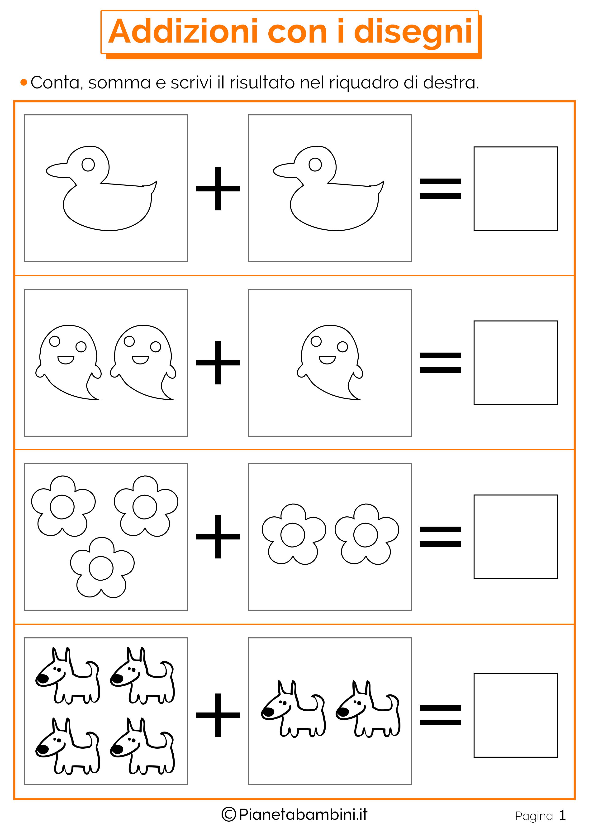 Estremamente Giochi di Matematica sulle Addizioni per Bambini da Stampare  AV35