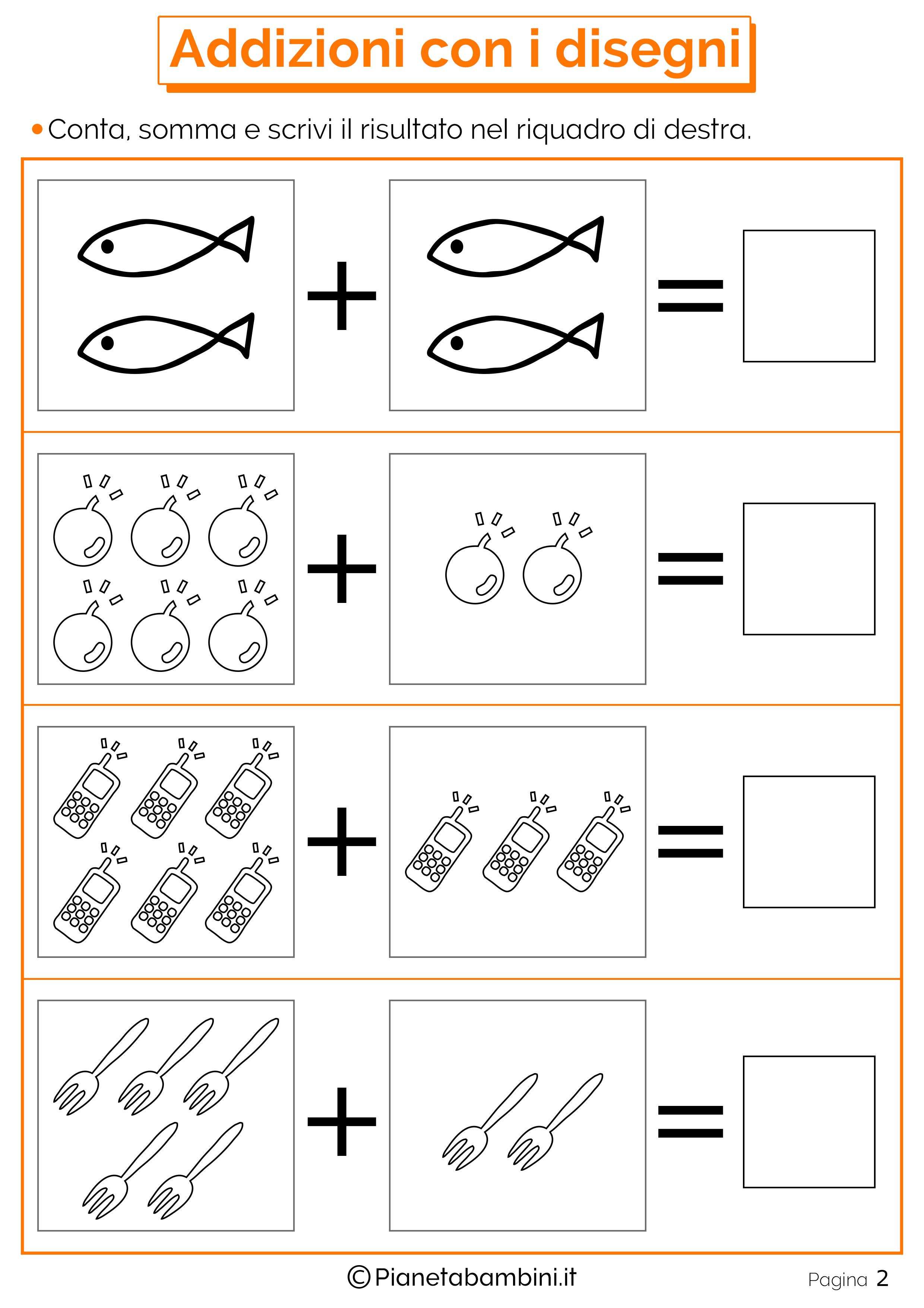 Connu Giochi di Matematica sulle Addizioni per Bambini da Stampare  MD12