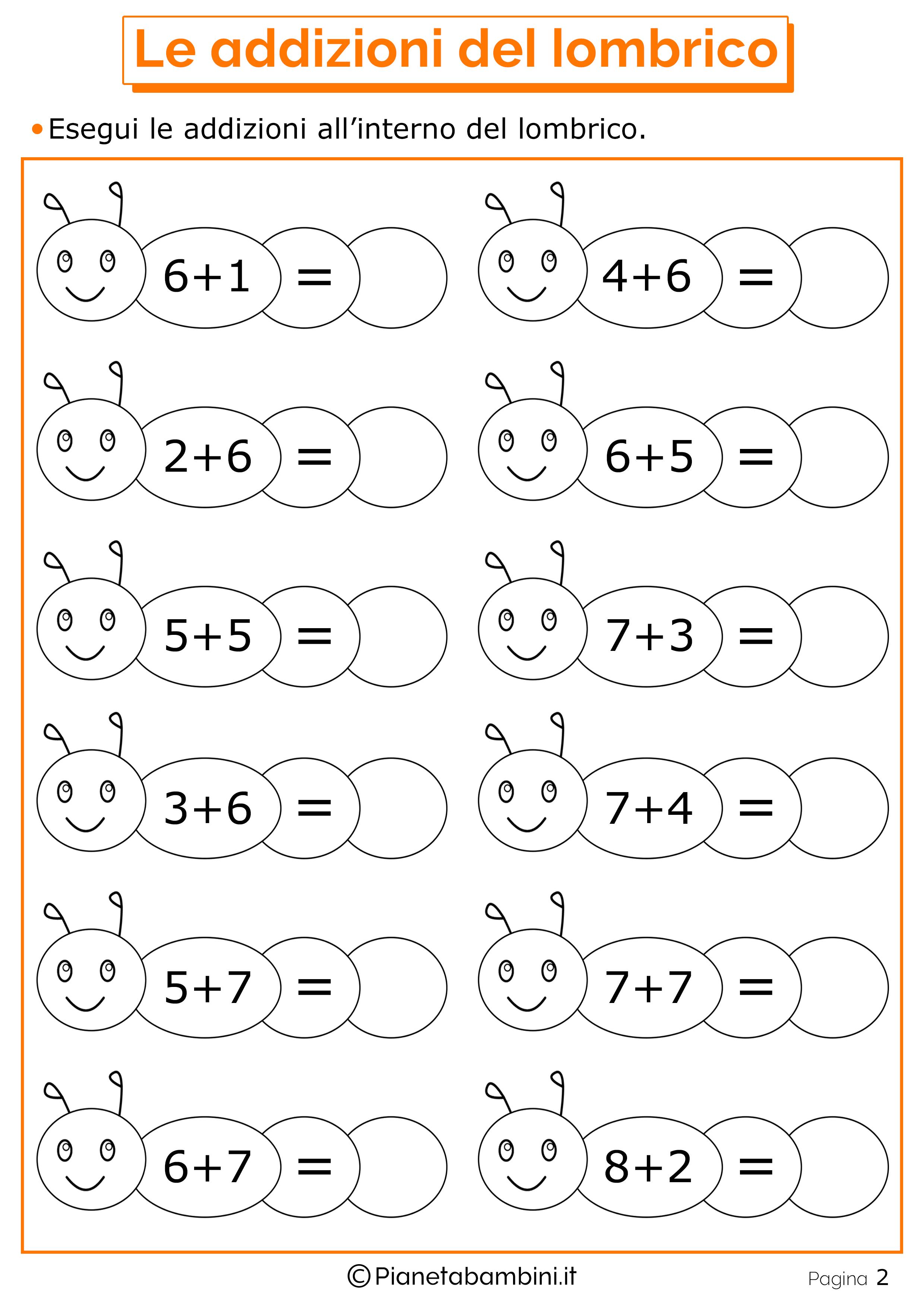 Top Giochi di Matematica sulle Addizioni per Bambini da Stampare  BD53