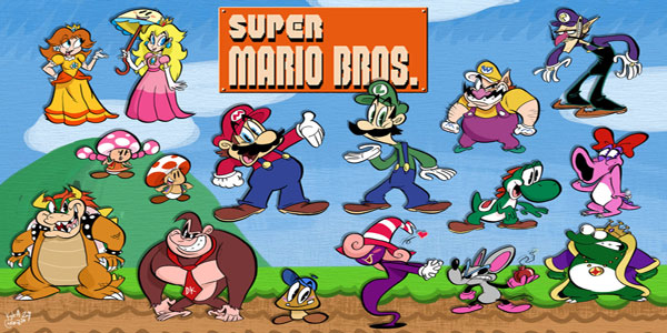 47 disegni da colorare di super mario bros for Disegni mario bros