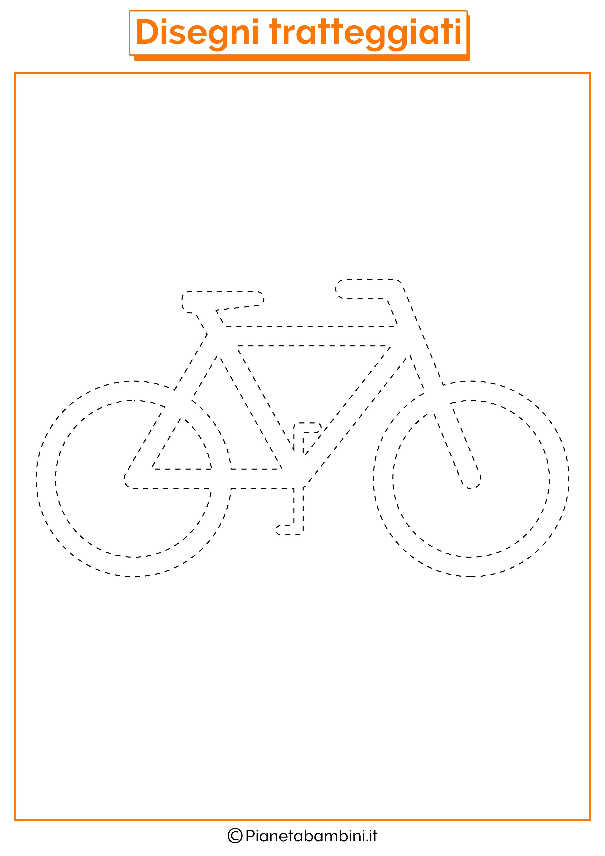 Scheda di pregrafismo bicicletta