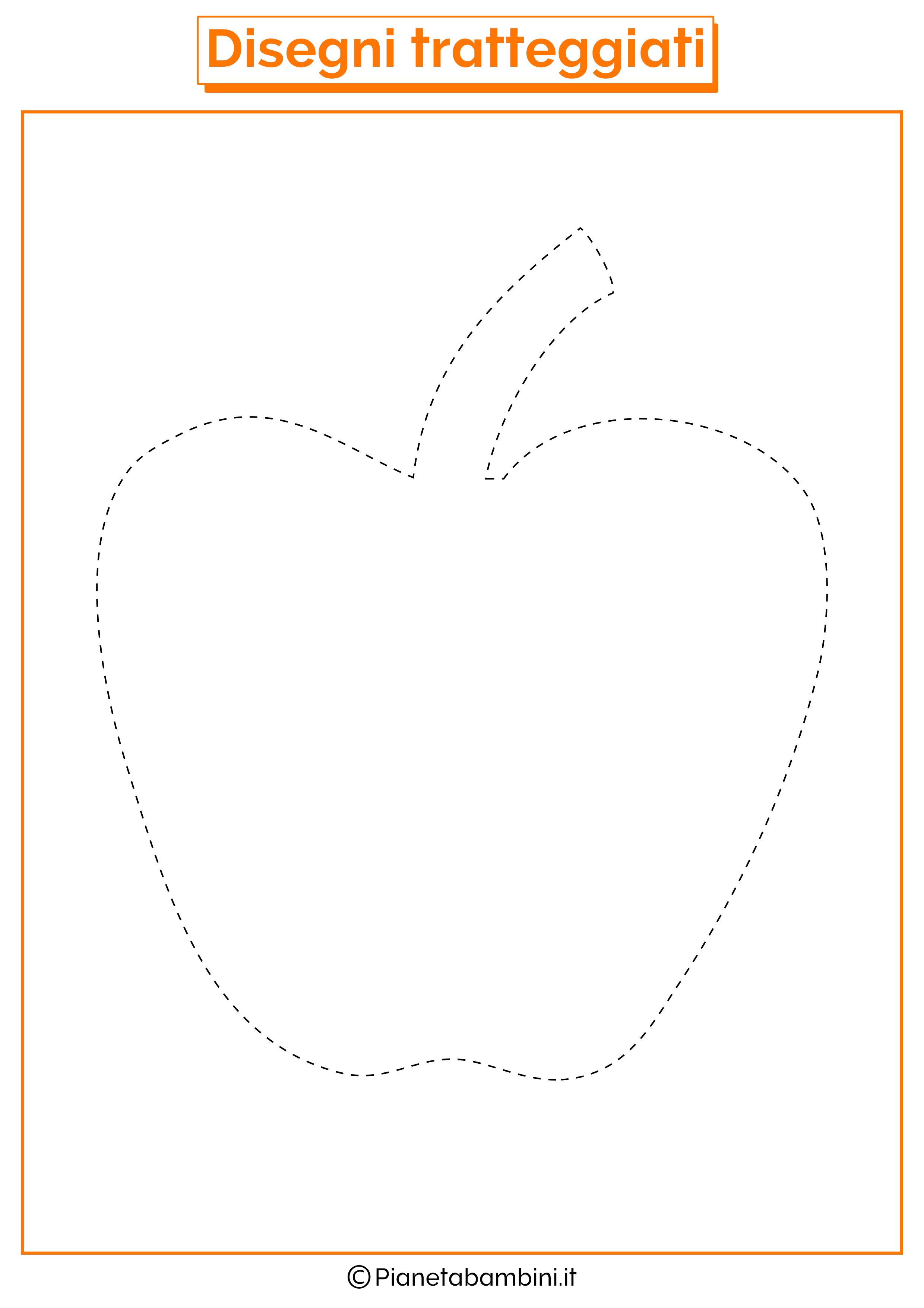 Scheda di pregrafismo mela