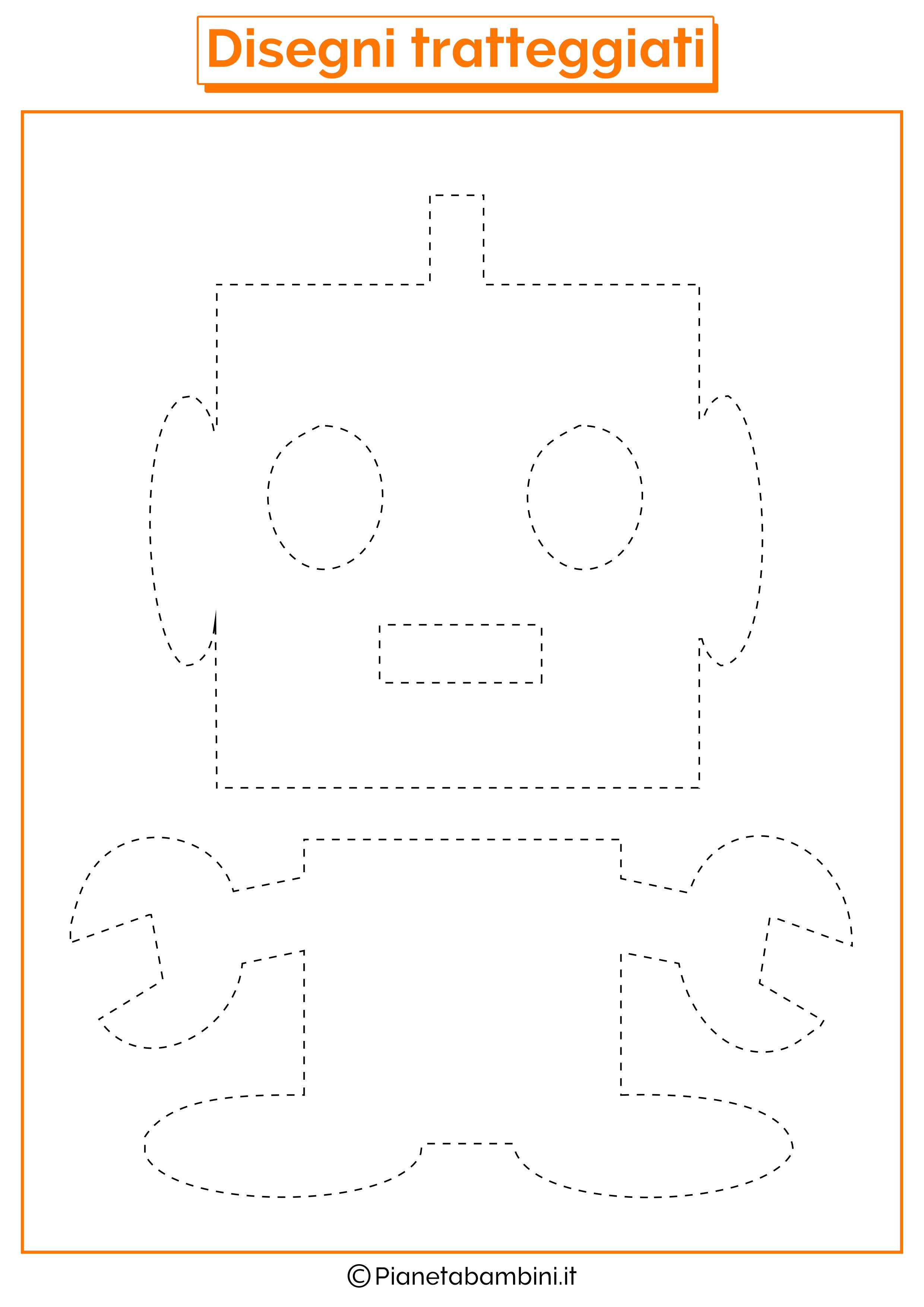 Scheda di pregrafismo robot